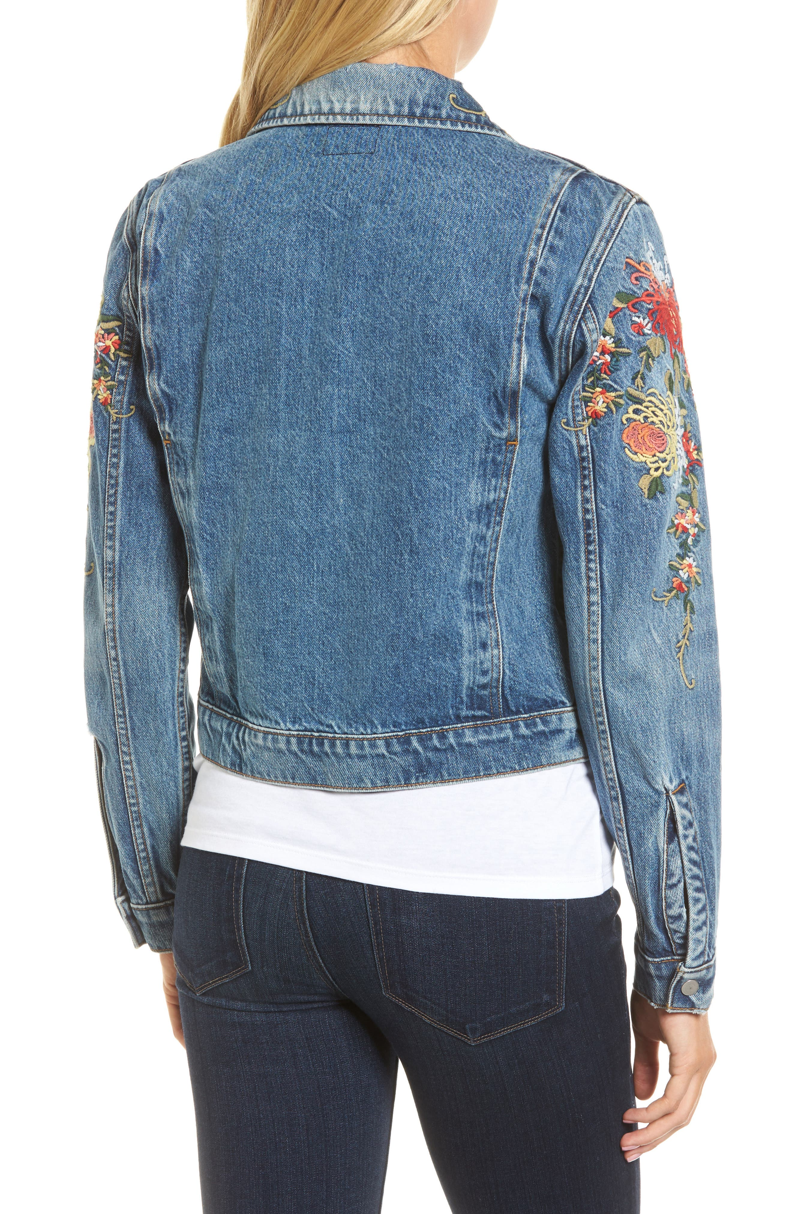 Ren Denim Trucker Jacket,                             Alternate thumbnail 4, color,