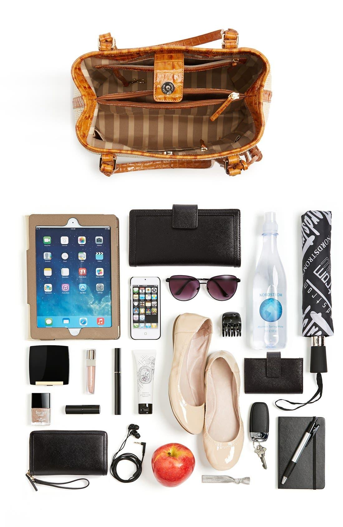 'Hudson' Leather & Raffia Bucket Bag,                             Alternate thumbnail 5, color,                             250