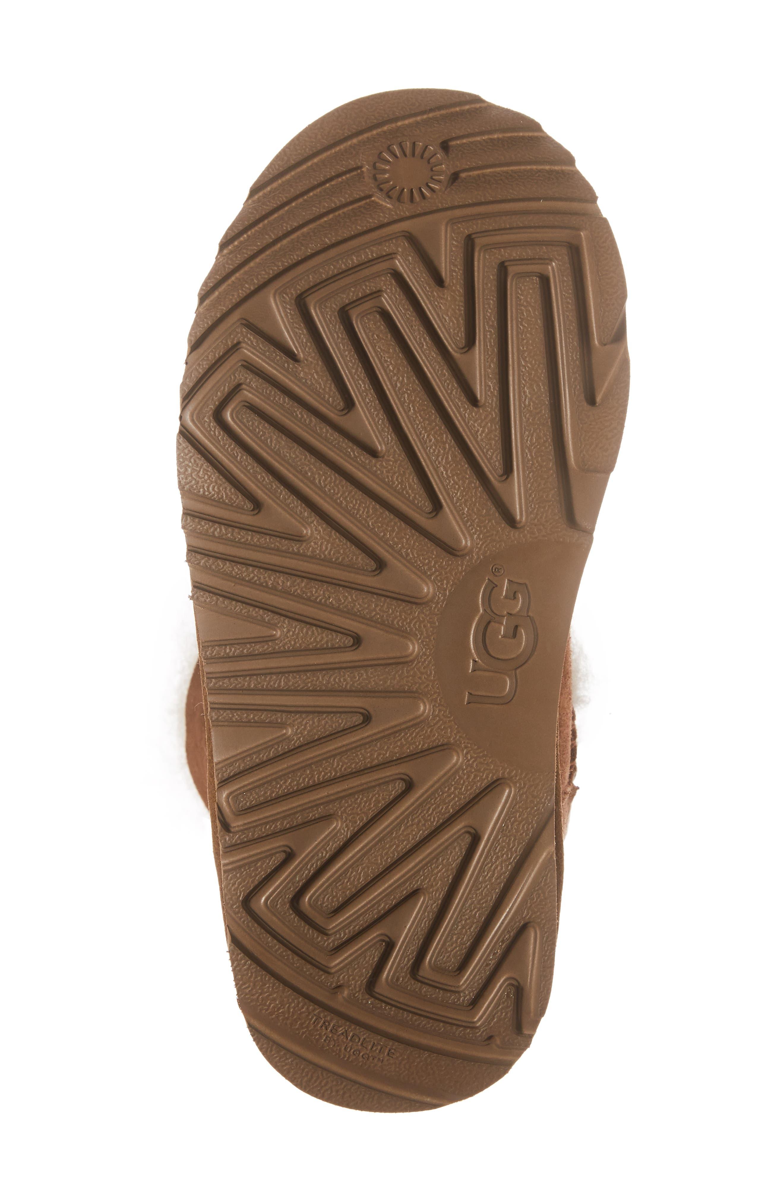 Gita Water-Resistant Genuine Shearling Pom Boot,                             Alternate thumbnail 6, color,                             CHESTNUT