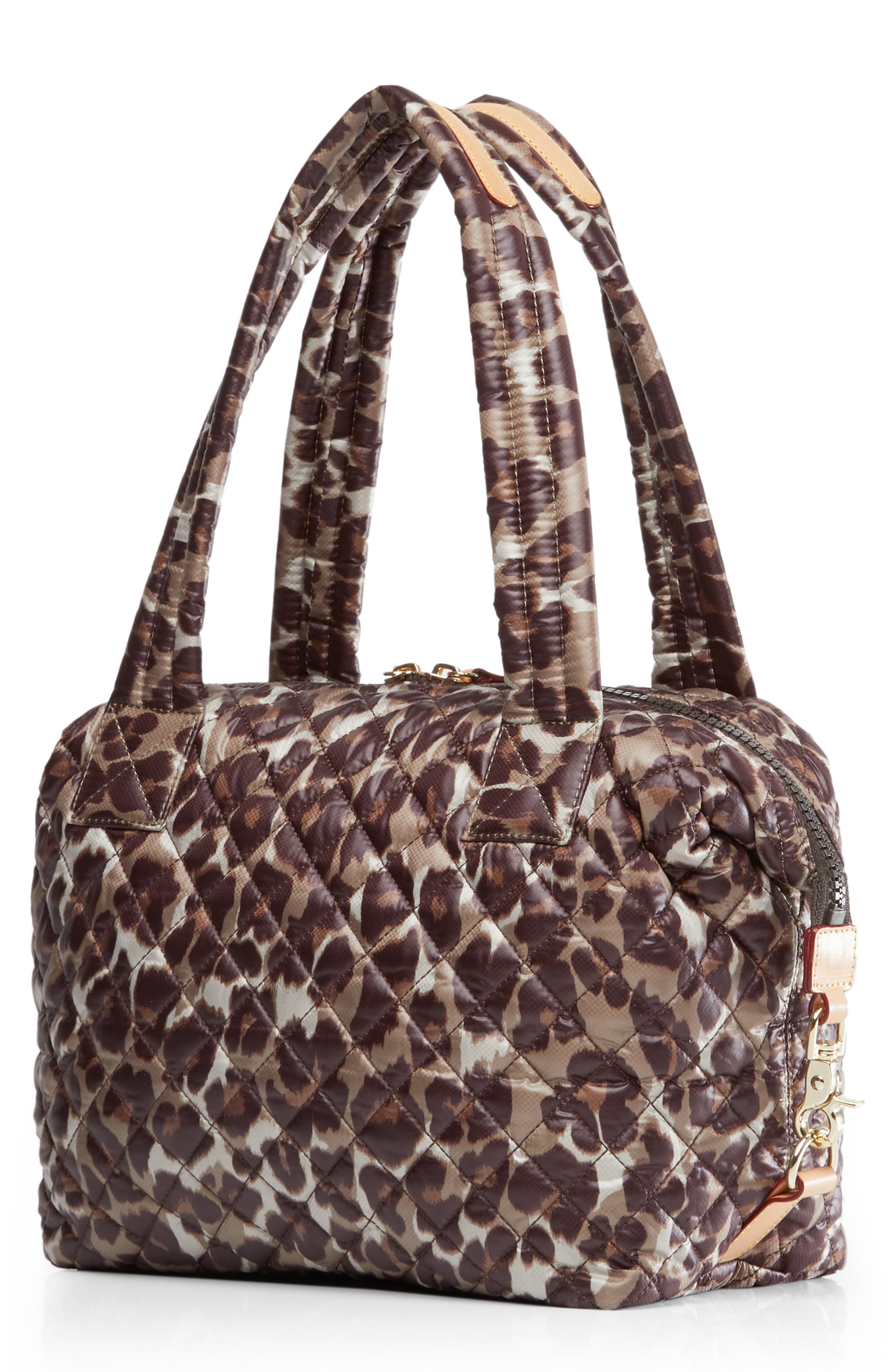 Medium Sutton Shoulder Tote,                             Alternate thumbnail 3, color,                             LEOPARD PRINT