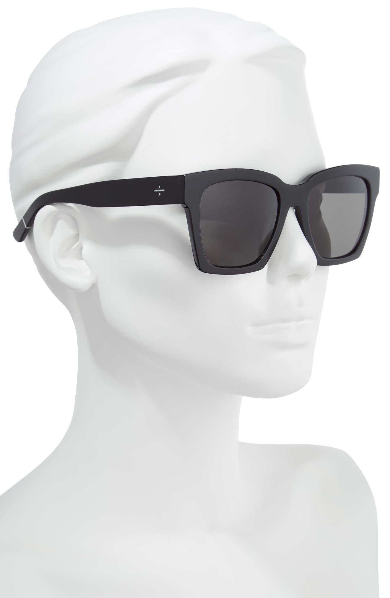 BLANC & ECLARE New York 54mm Polarized Sunglasses,                             Alternate thumbnail 2, color,                             BLACK