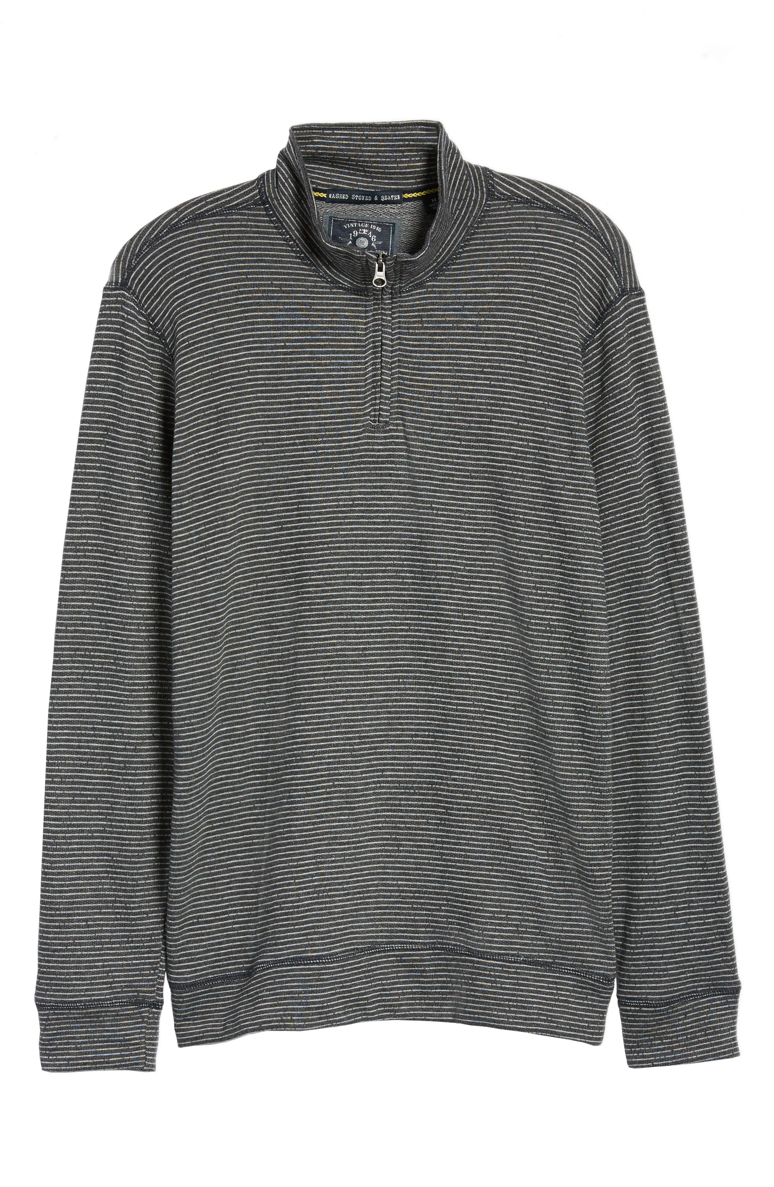 Space Dye Stripe French Terry Pullover,                             Alternate thumbnail 6, color,                             010