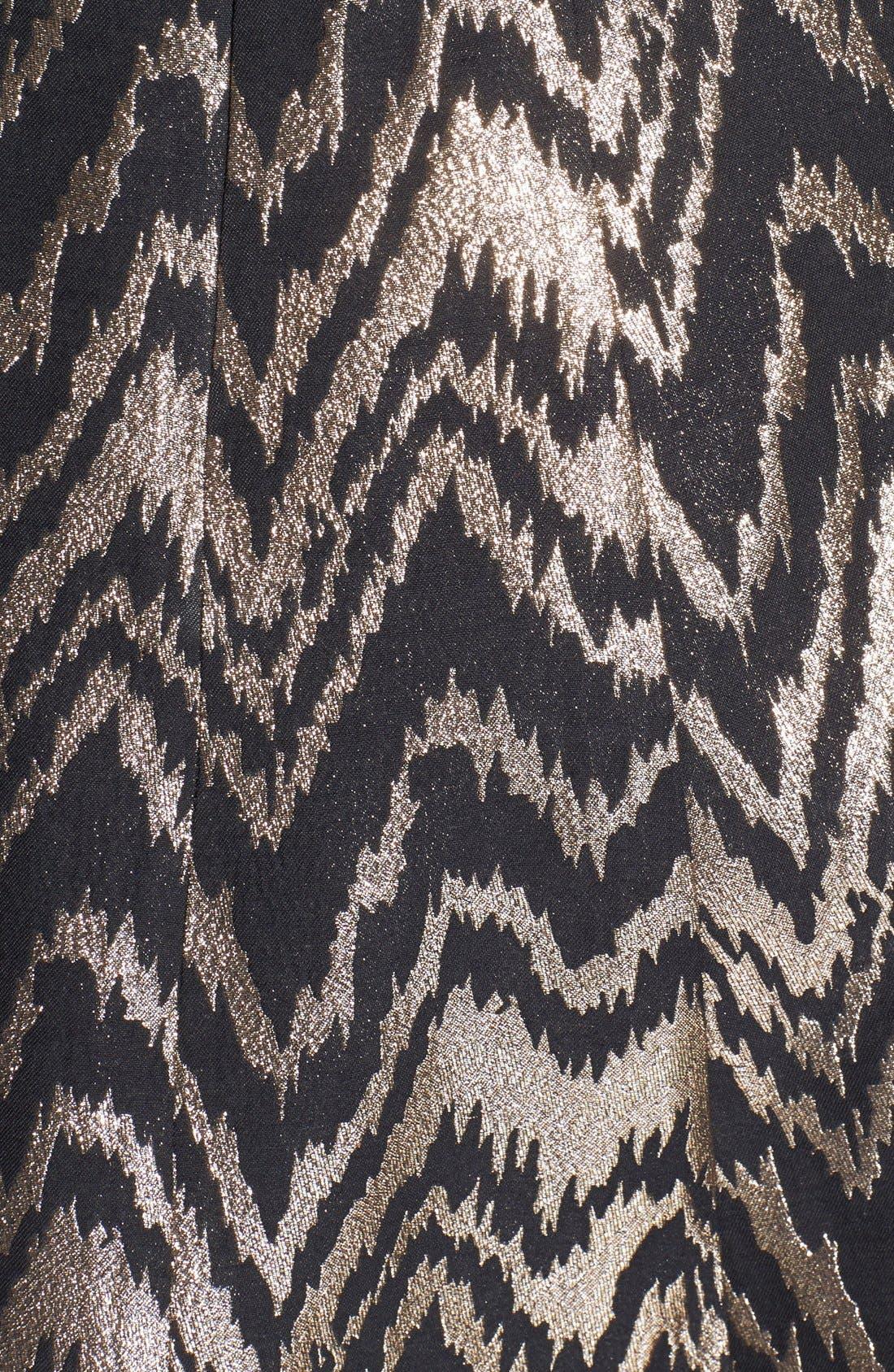 VINCE CAMUTO,                             Metallic Jacquard Fit & Flare Dress,                             Alternate thumbnail 3, color,                             226