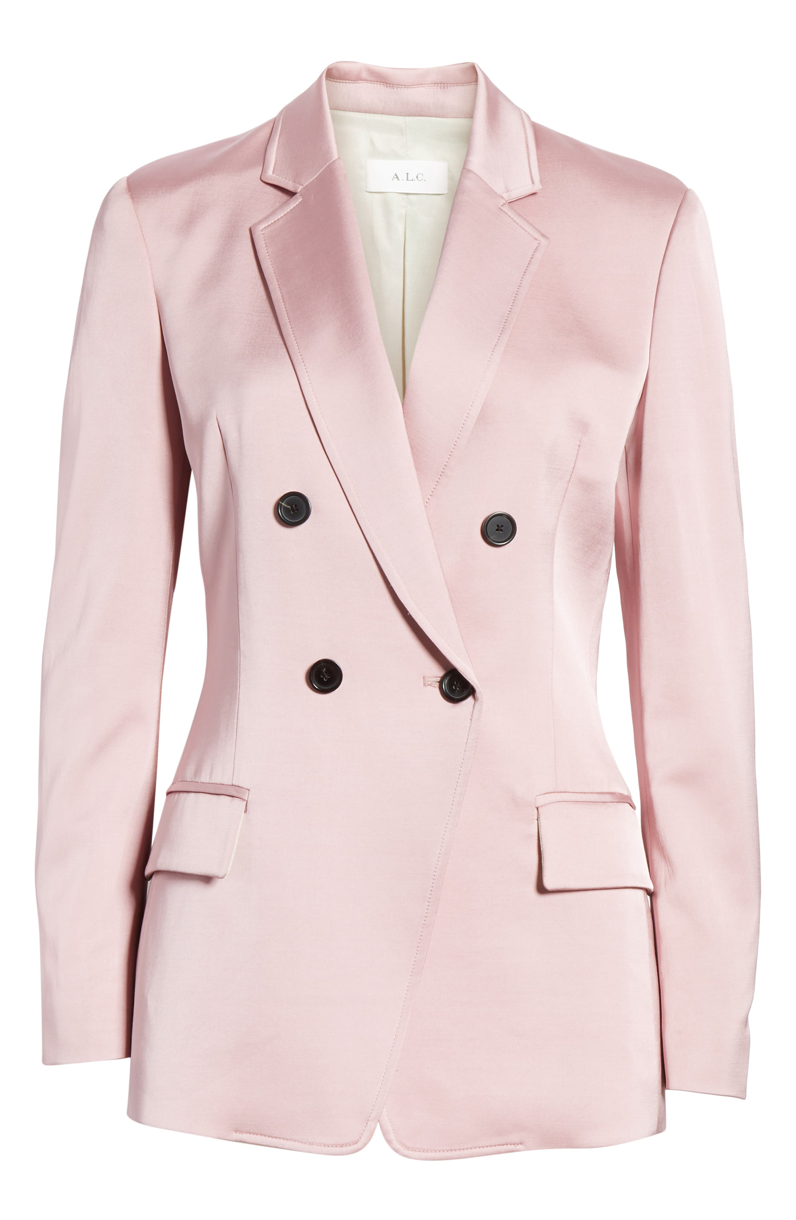 A.L.C.,                             Sedgewick Double Breasted Suiting Jacket,                             Alternate thumbnail 5, color,                             DUSTY ROSE