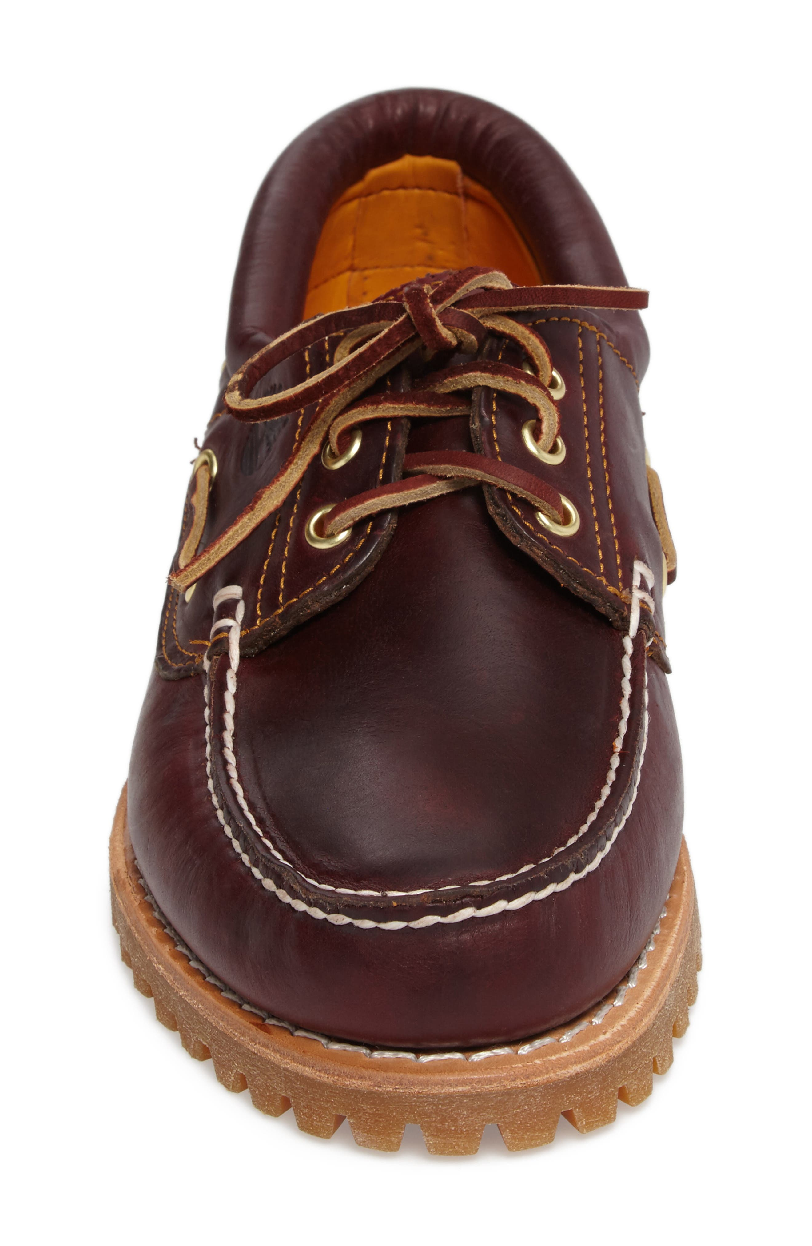 Authentic Boat Shoe,                             Alternate thumbnail 4, color,                             ROOTBEER LEATHER