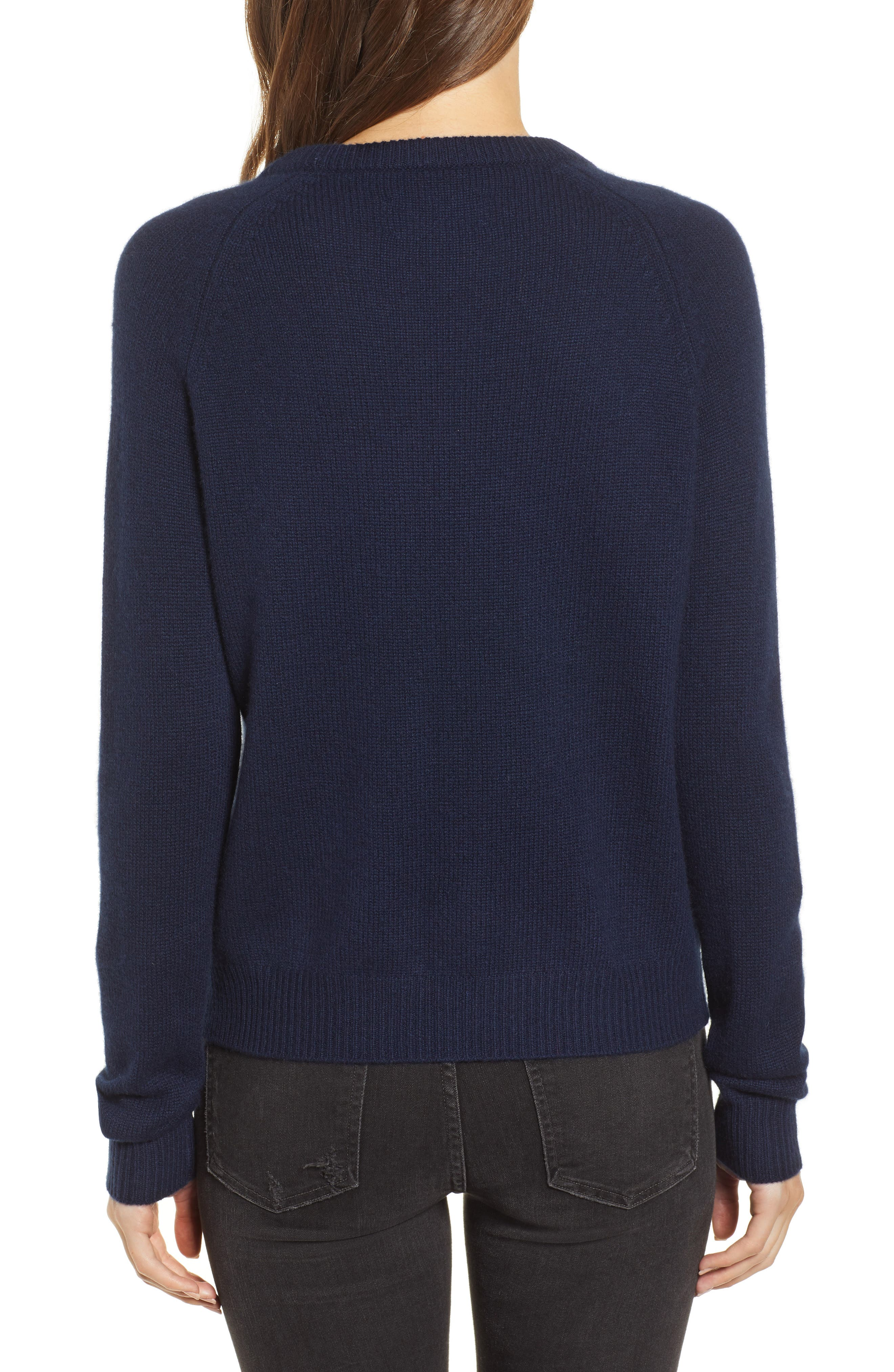 Baly Bis C Cashmere Sweater,                             Alternate thumbnail 2, color,                             001
