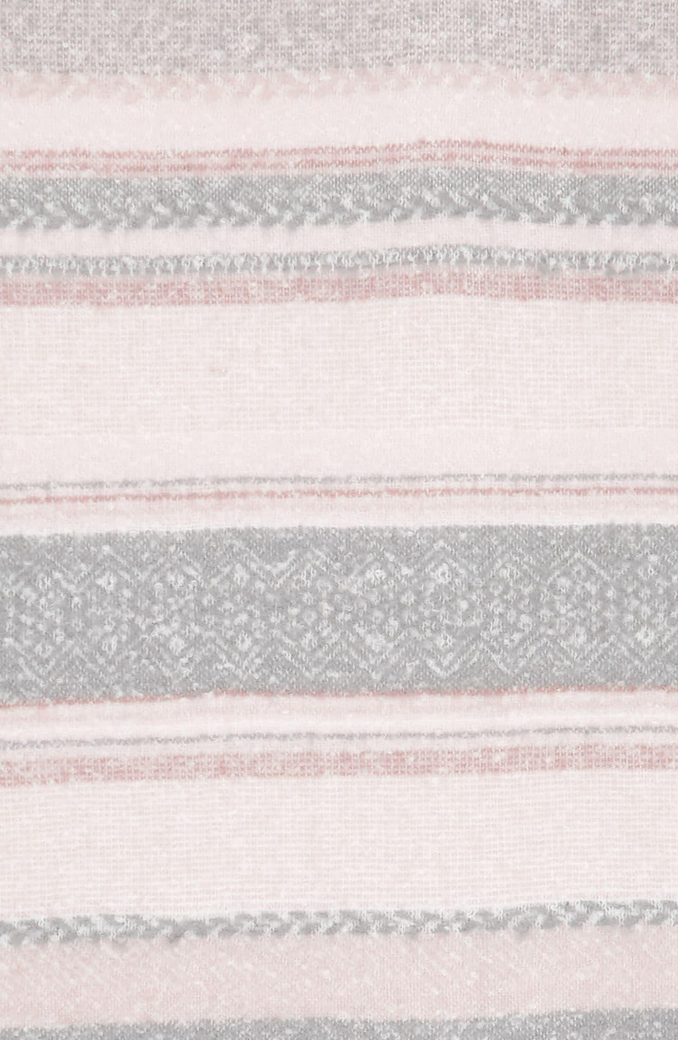 Brushed Stripe Blanket Wrap,                             Alternate thumbnail 3, color,                             900