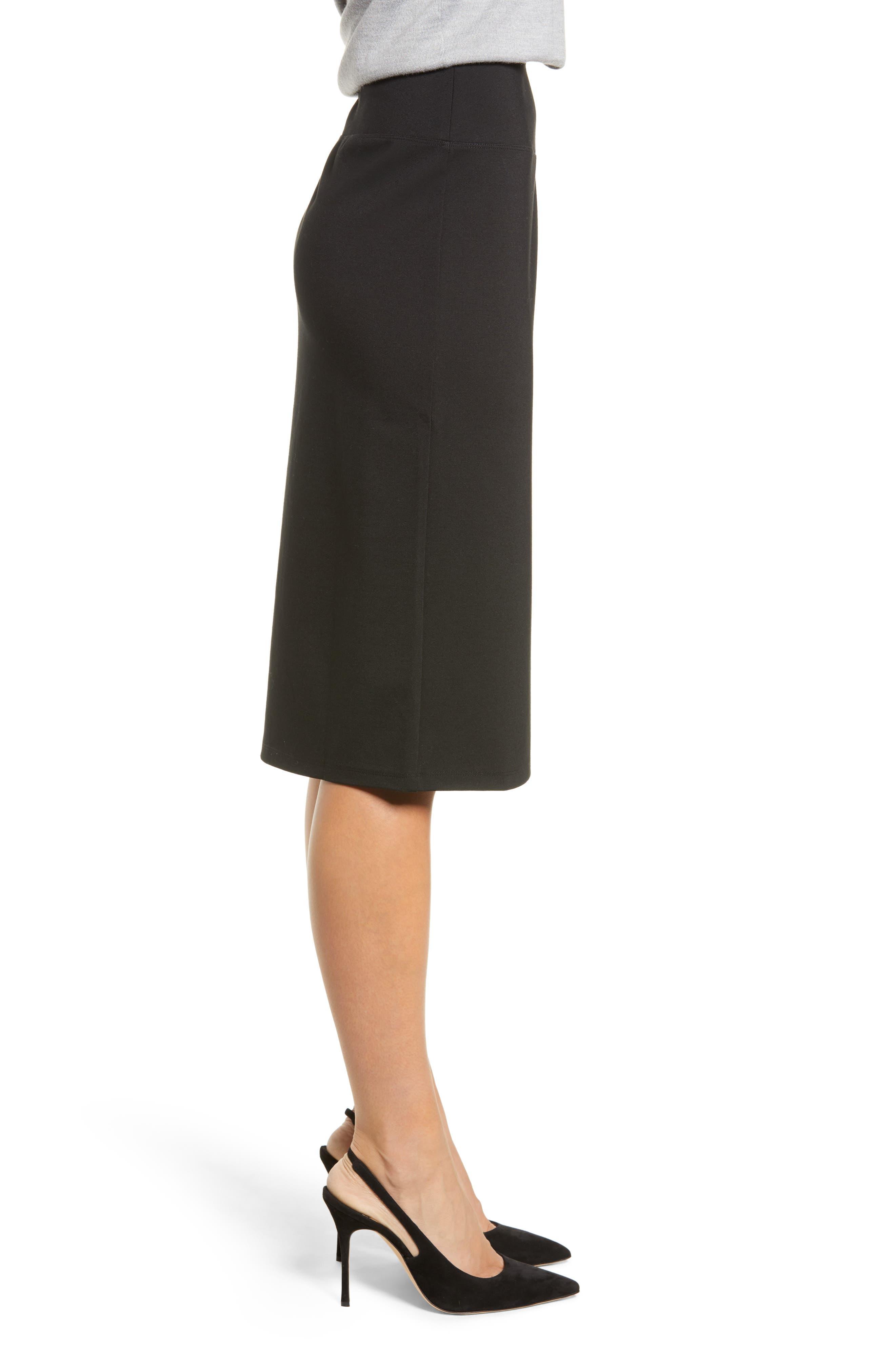 HALOGEN<SUP>®</SUP>,                             Ponte Pencil Skirt,                             Alternate thumbnail 3, color,                             001