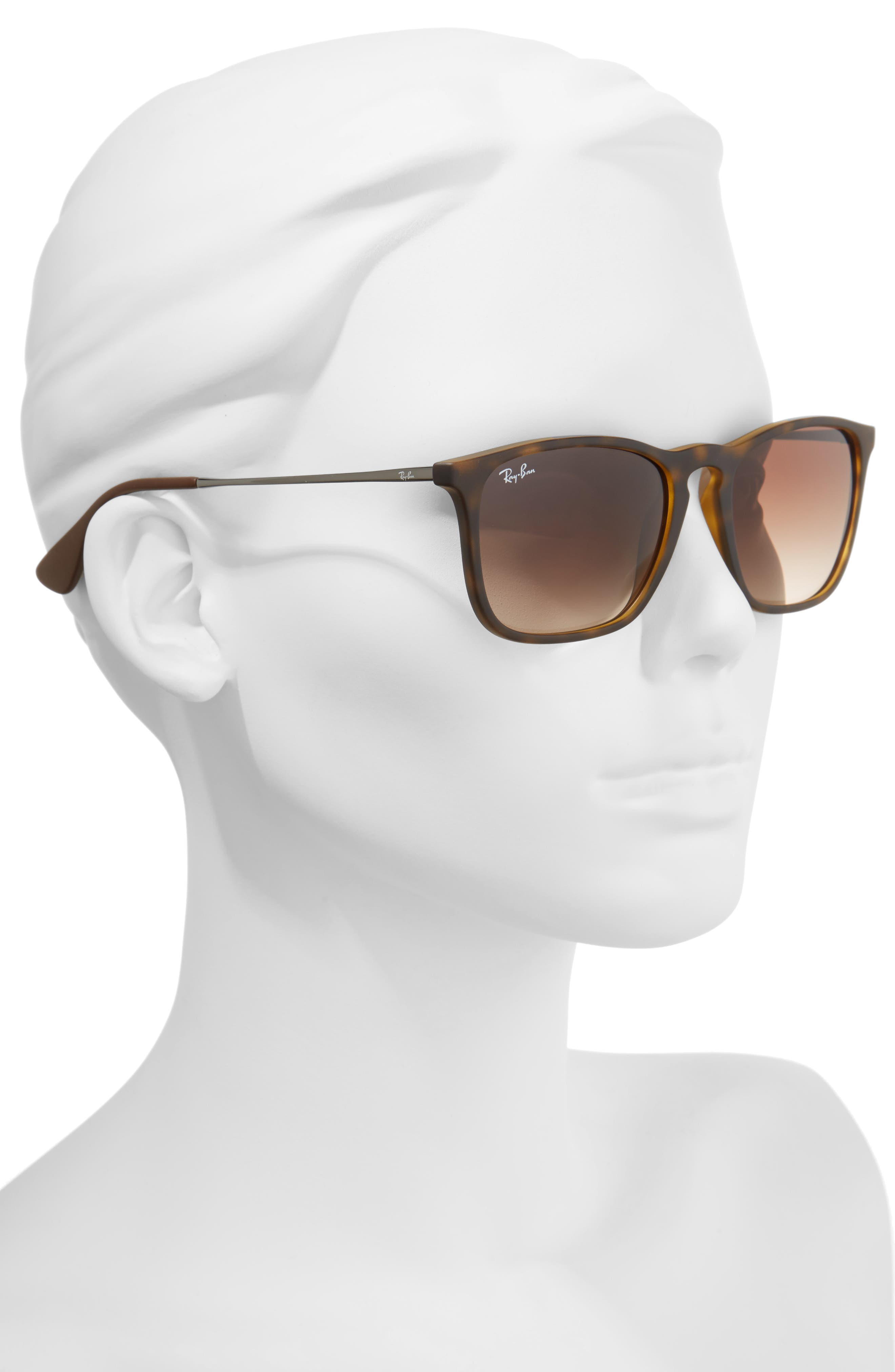 Youngster 54mm Square Keyhole Sunglasses,                             Alternate thumbnail 2, color,                             BROWN