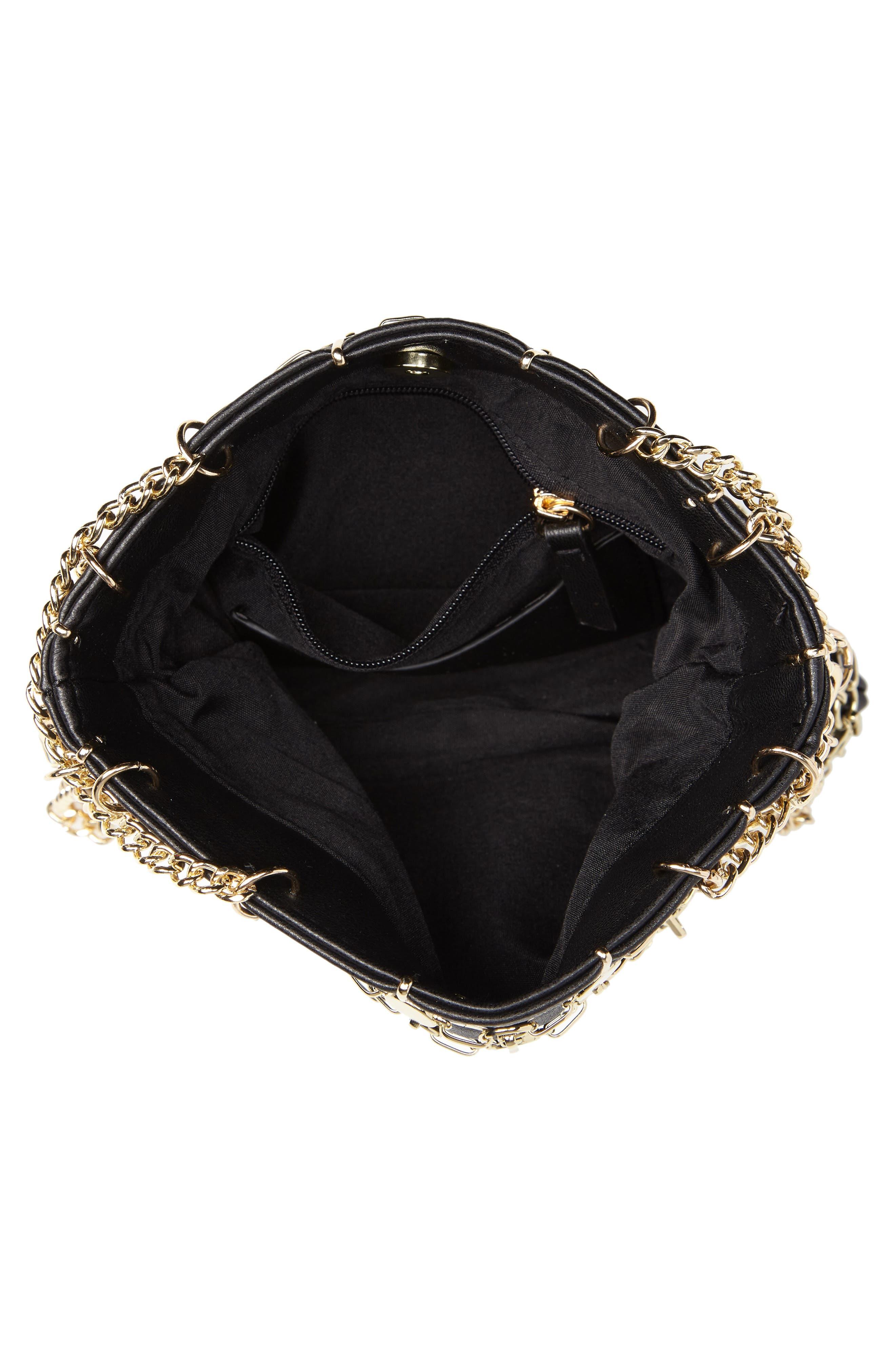 Multi Chain Shoulder Bag,                             Alternate thumbnail 4, color,                             GOLD MULTI