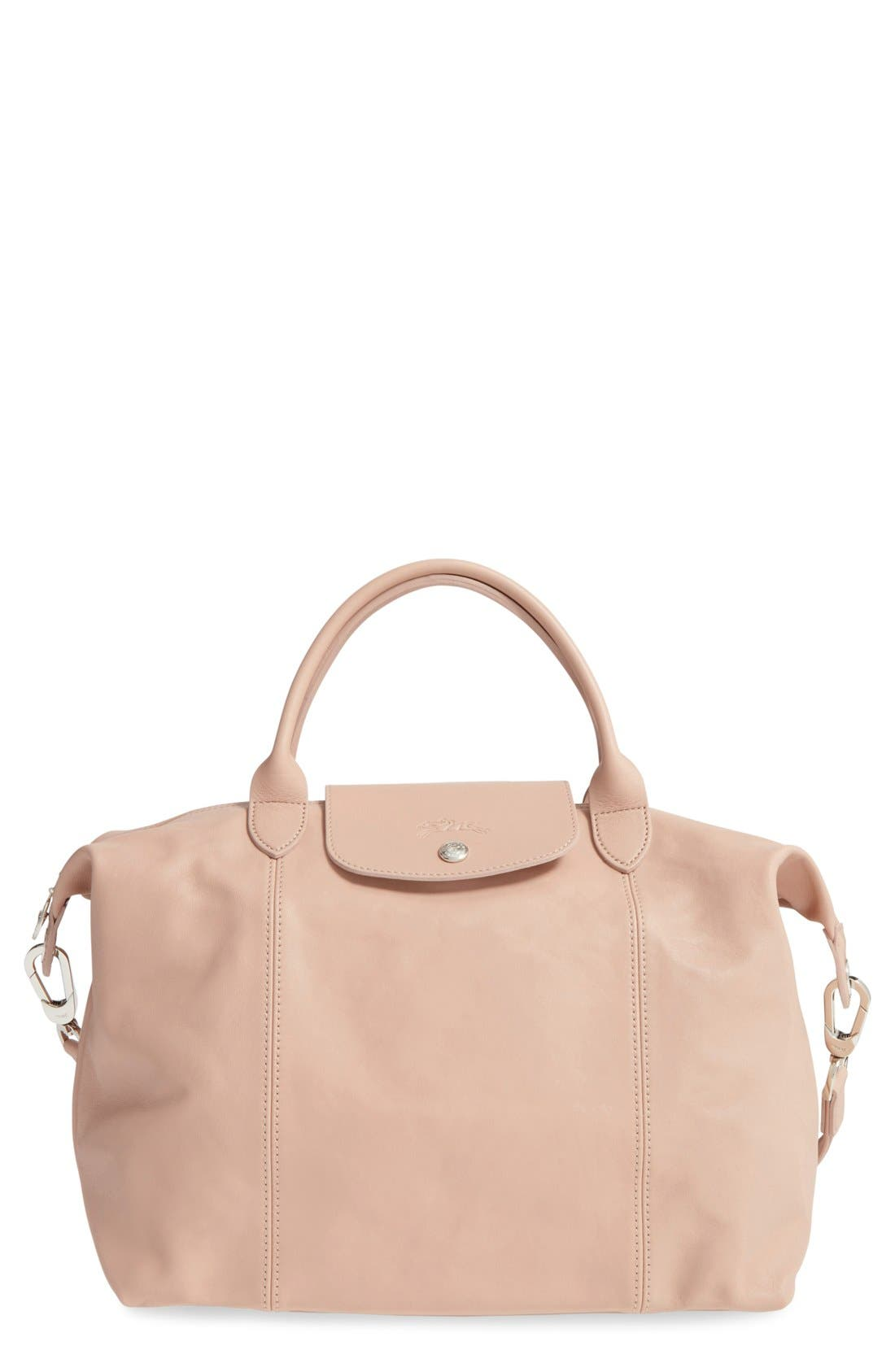 Medium 'Le Pliage Cuir' Leather Top Handle Tote,                             Main thumbnail 13, color,
