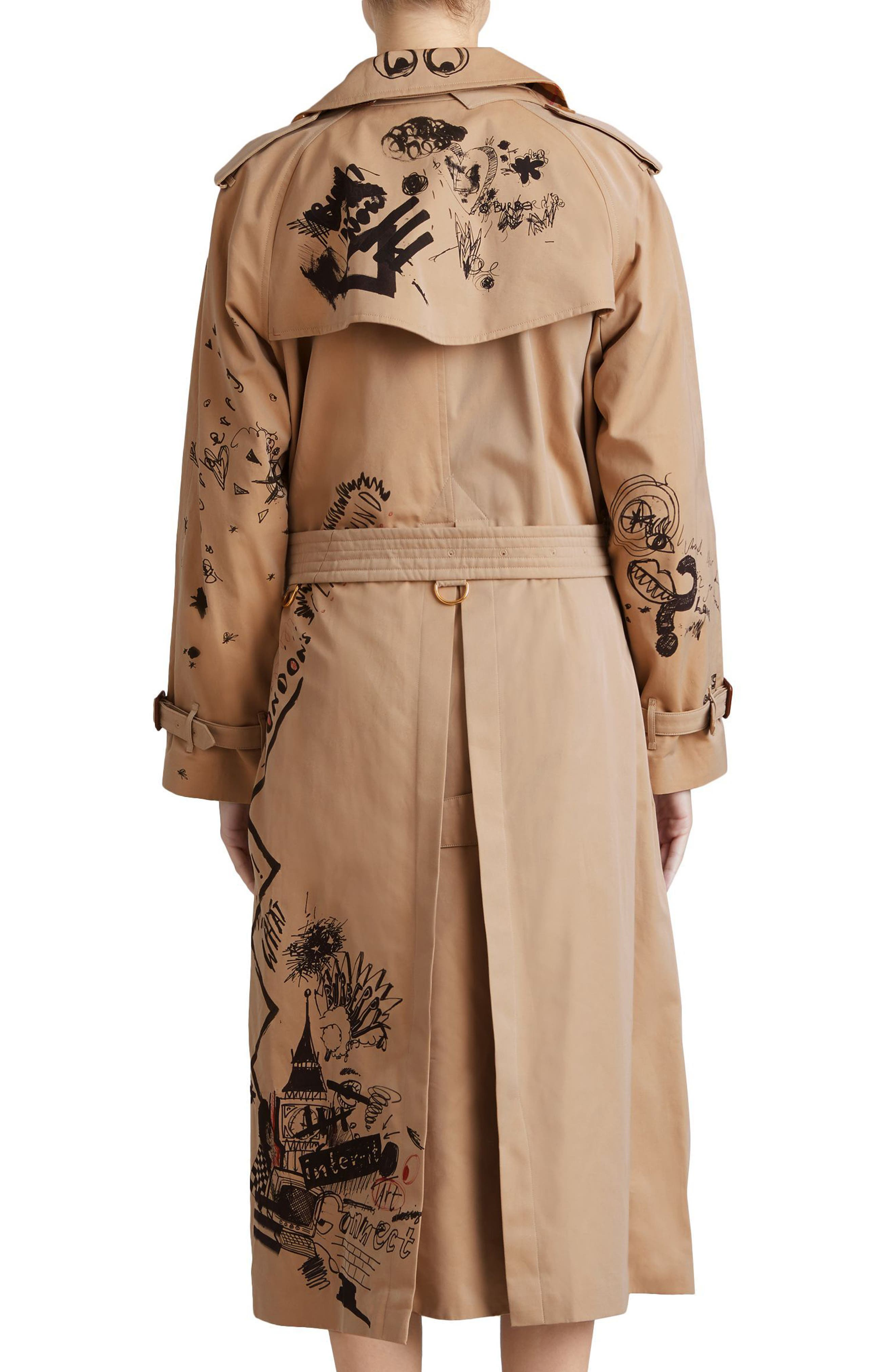 Eastheath Embellished Trench Coat,                             Alternate thumbnail 2, color,                             205