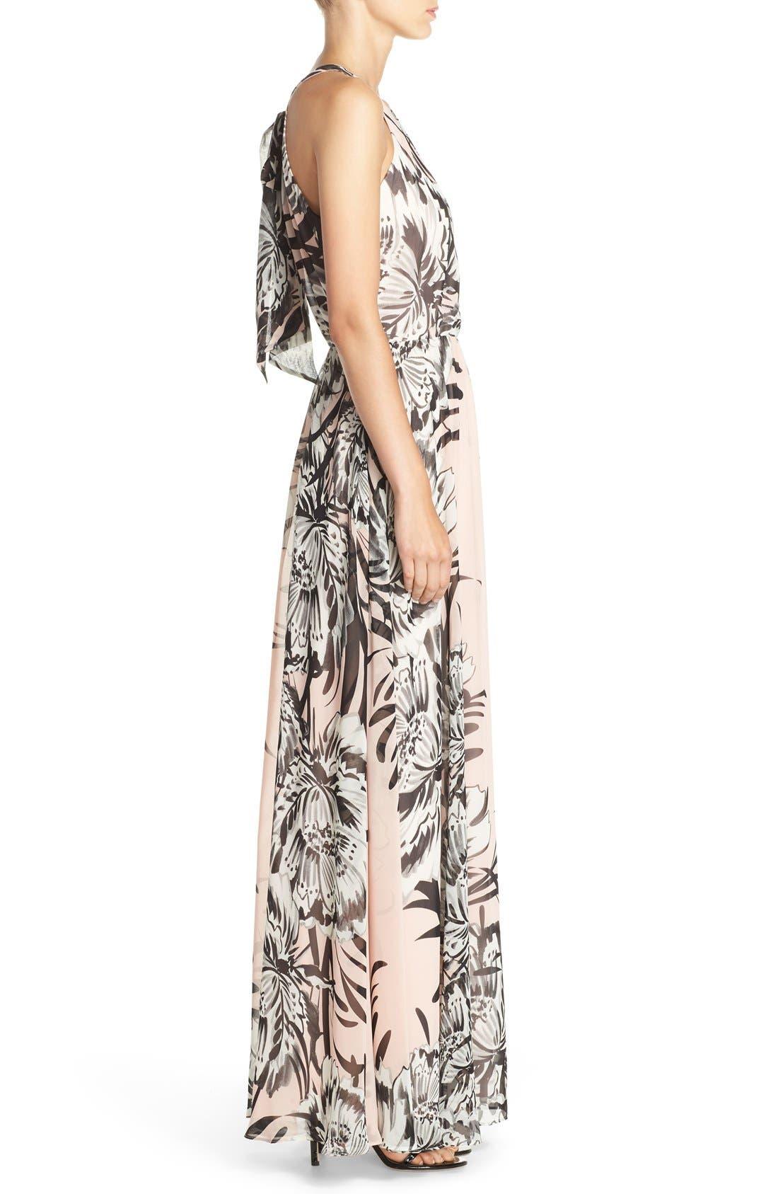 Chiffon Maxi Dress,                             Alternate thumbnail 12, color,                             BLUSH