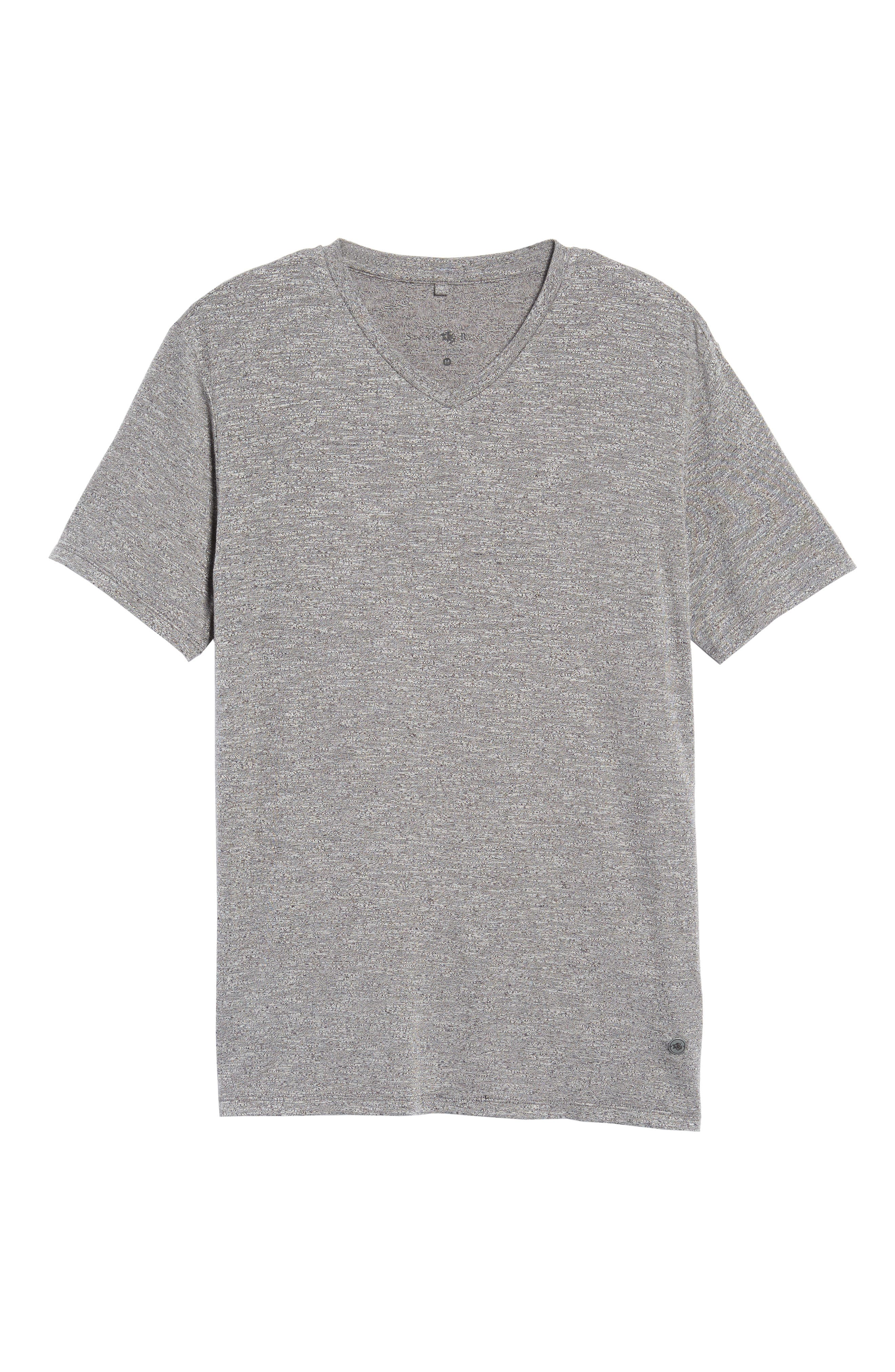 Flame Slubbed V-Neck T-Shirt,                             Alternate thumbnail 6, color,                             020