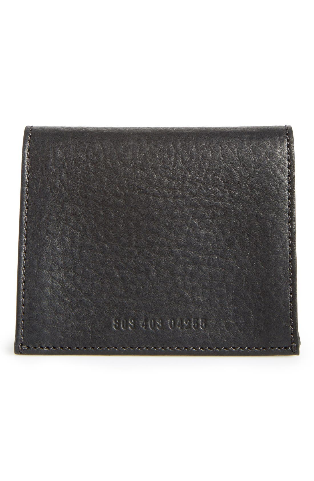 Gusset Leather Card Case,                             Alternate thumbnail 3, color,                             001