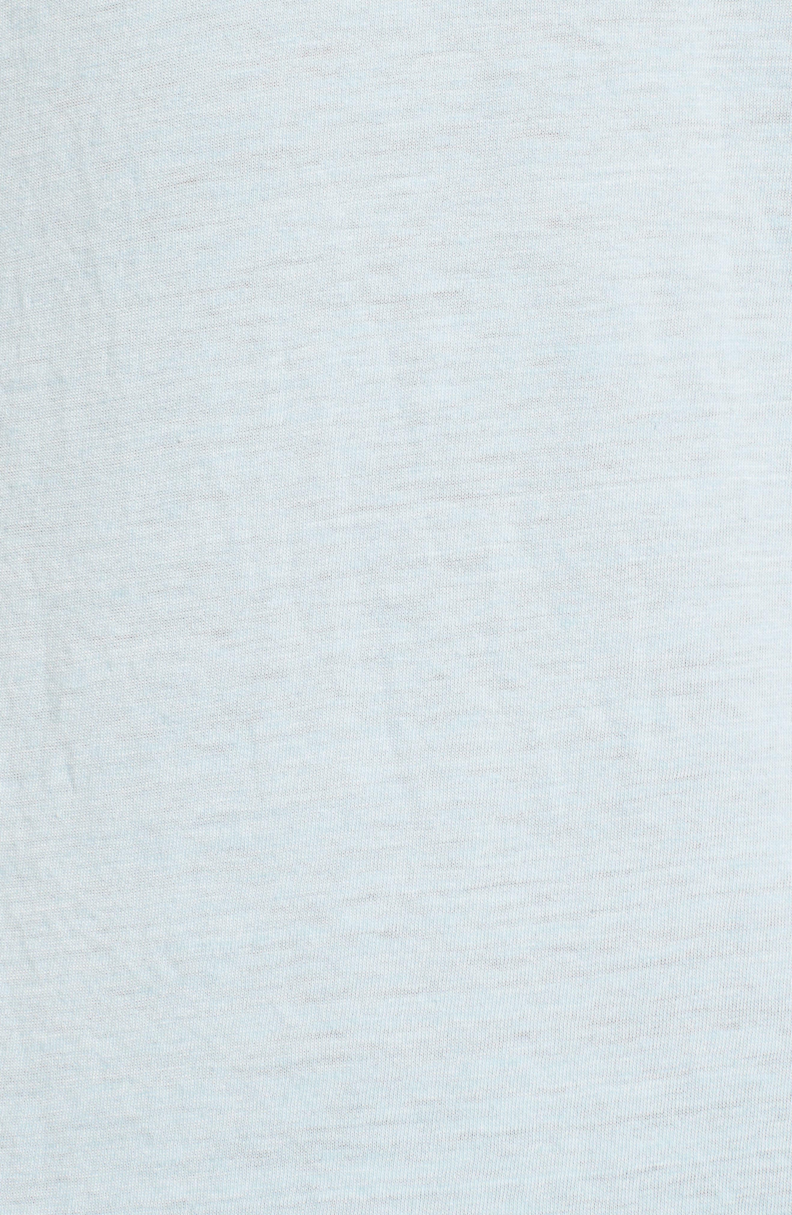 Scallop Triblend Crewneck T-Shirt,                             Alternate thumbnail 100, color,