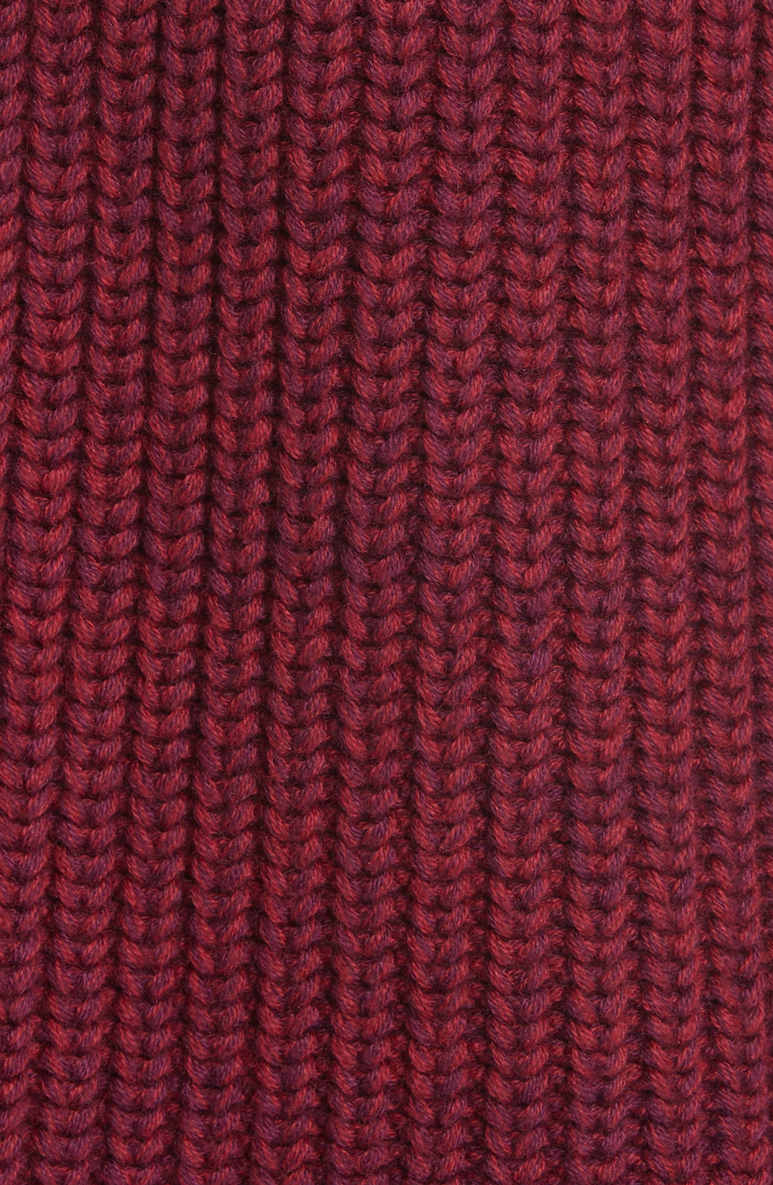 Cotton & Cashmere Sweater,                             Alternate thumbnail 5, color,                             BERRY