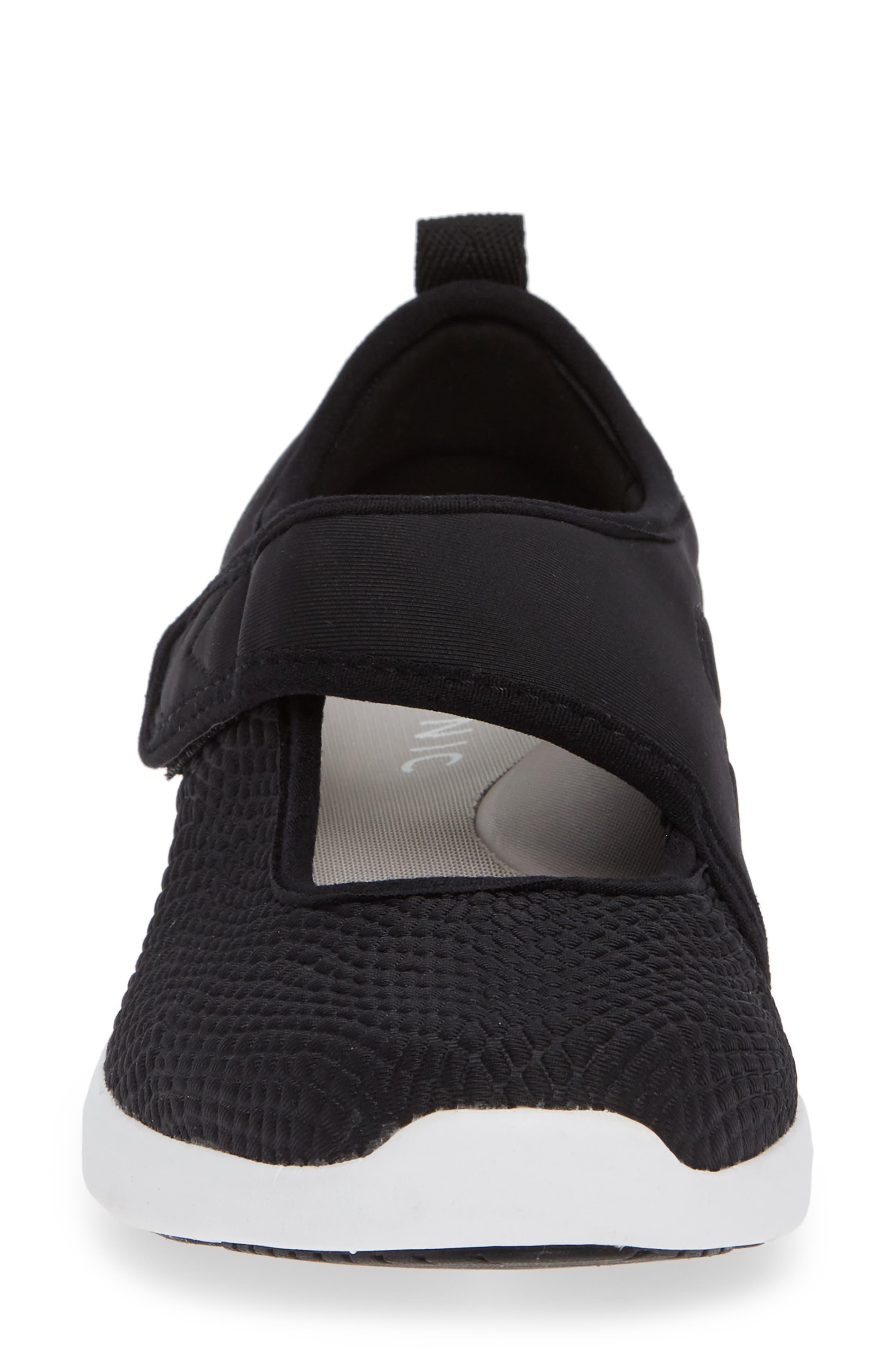 Sonnet Sneaker,                             Alternate thumbnail 4, color,                             BLACK FABRIC