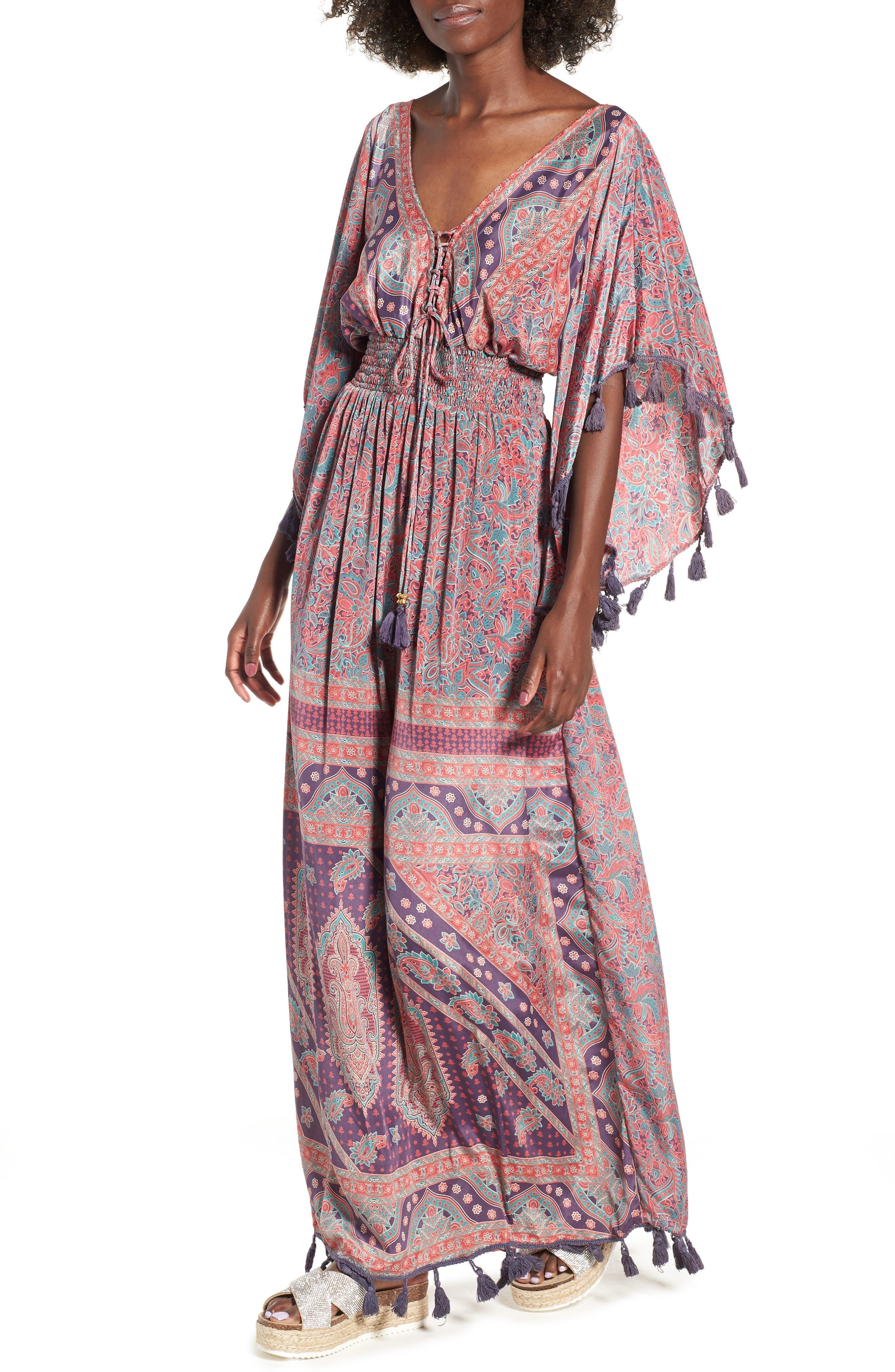 Electric Love Maxi Dress,                             Main thumbnail 1, color,                             MULTI