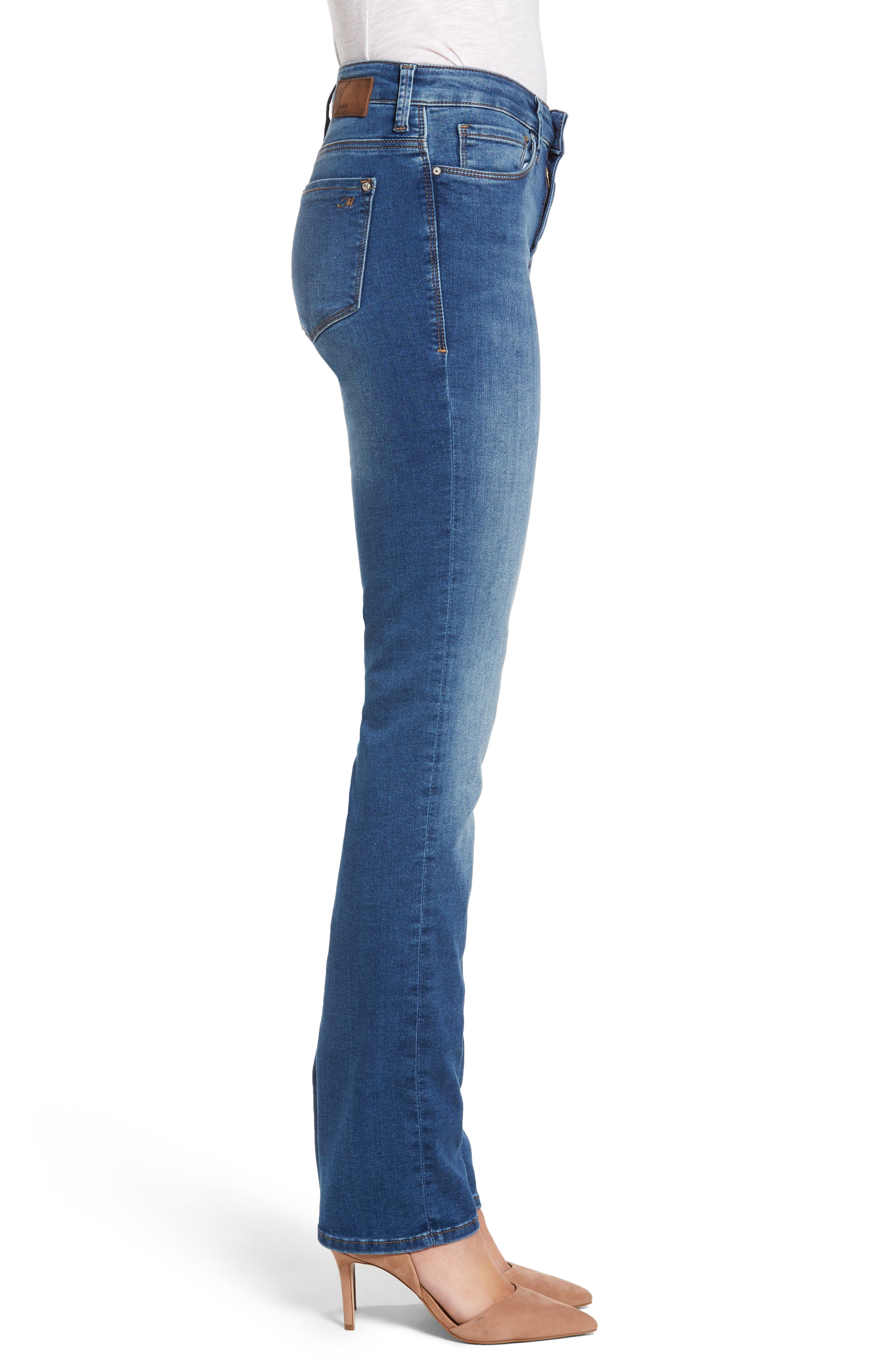 Kendra High Waist Stretch Denim Jeans,                             Alternate thumbnail 3, color,                             650