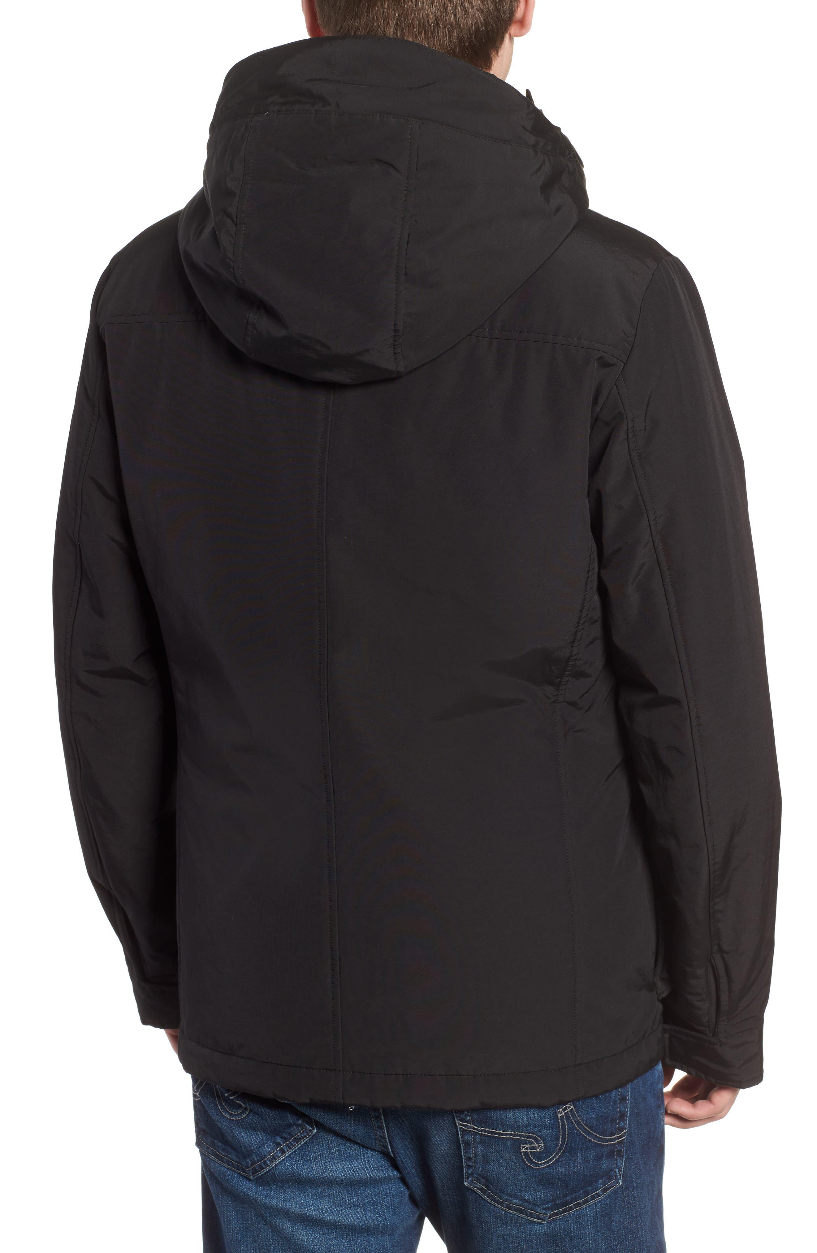 Camou Field Jacket,                             Alternate thumbnail 2, color,                             BLACK