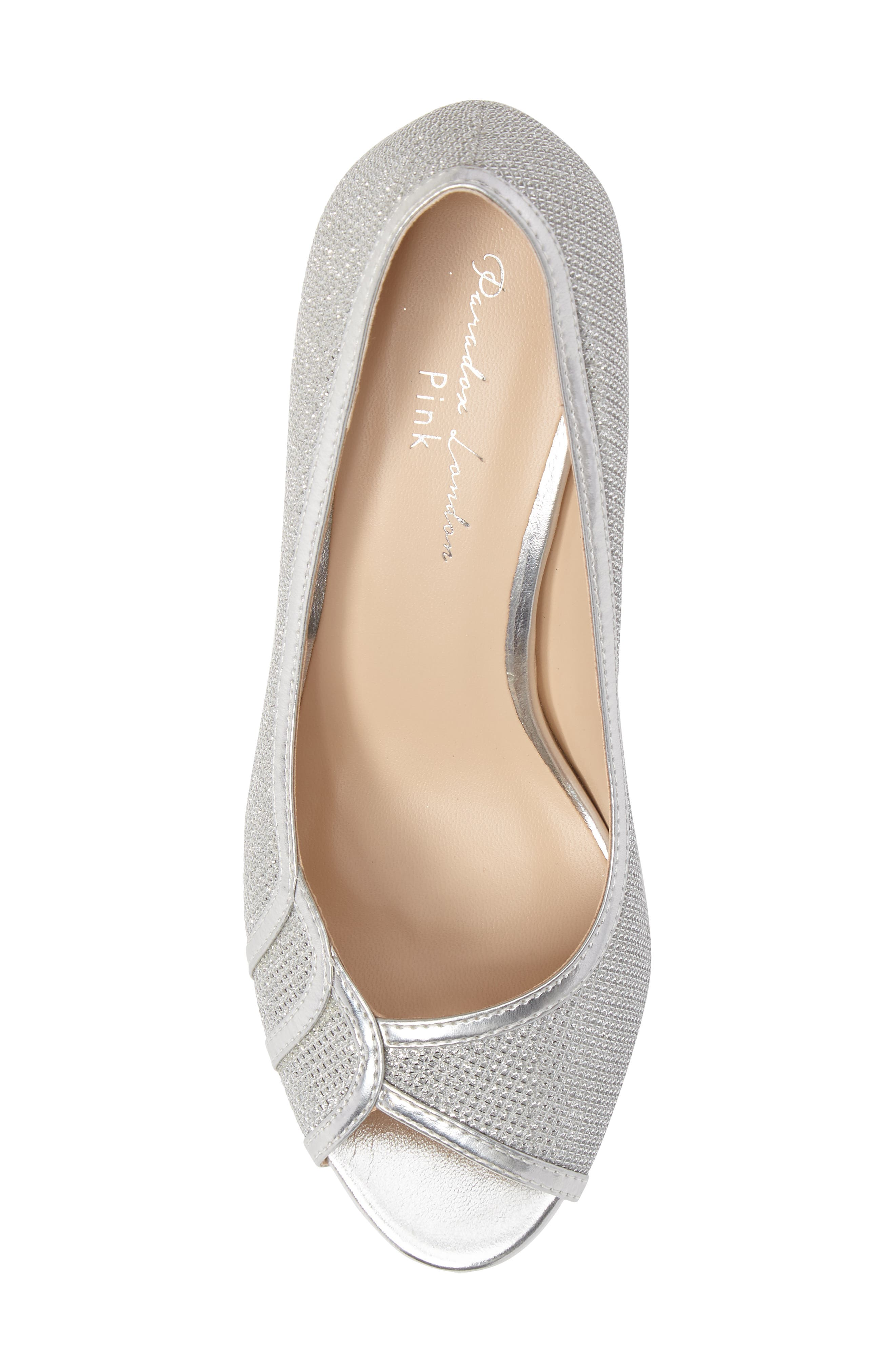 Chester Peep Toe Pump,                             Alternate thumbnail 5, color,                             SILVER