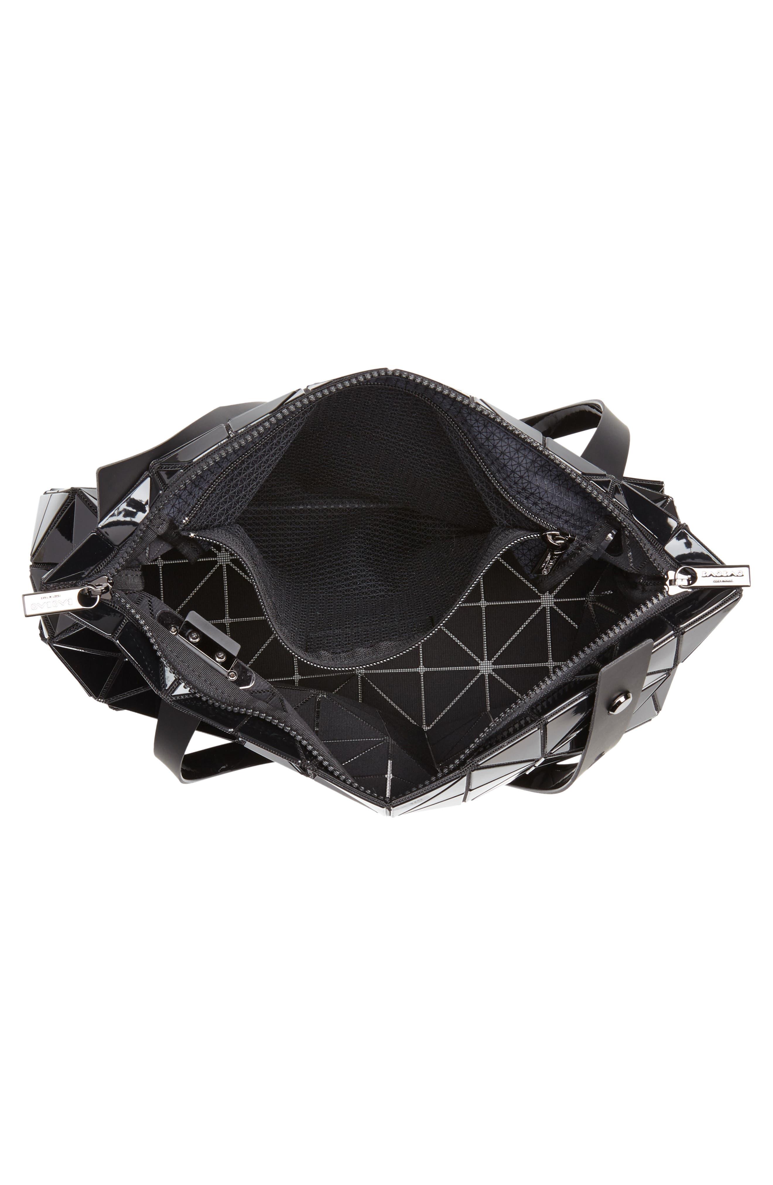 Carton Prism Tote Bag,                             Alternate thumbnail 4, color,                             BLACK