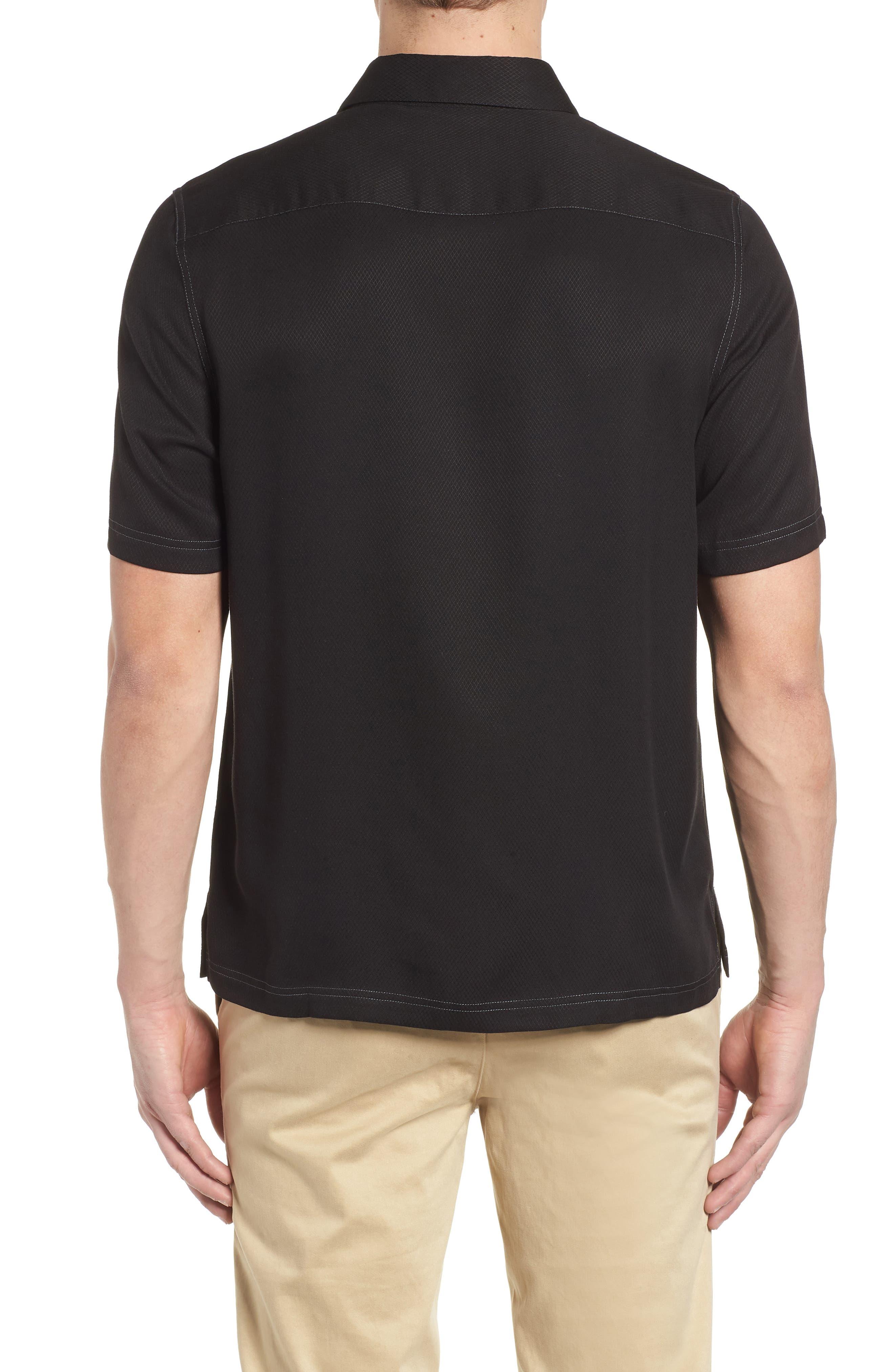 'Honeycomb' Regular Fit Short Sleeve Textured Sport Shirt,                             Alternate thumbnail 6, color,