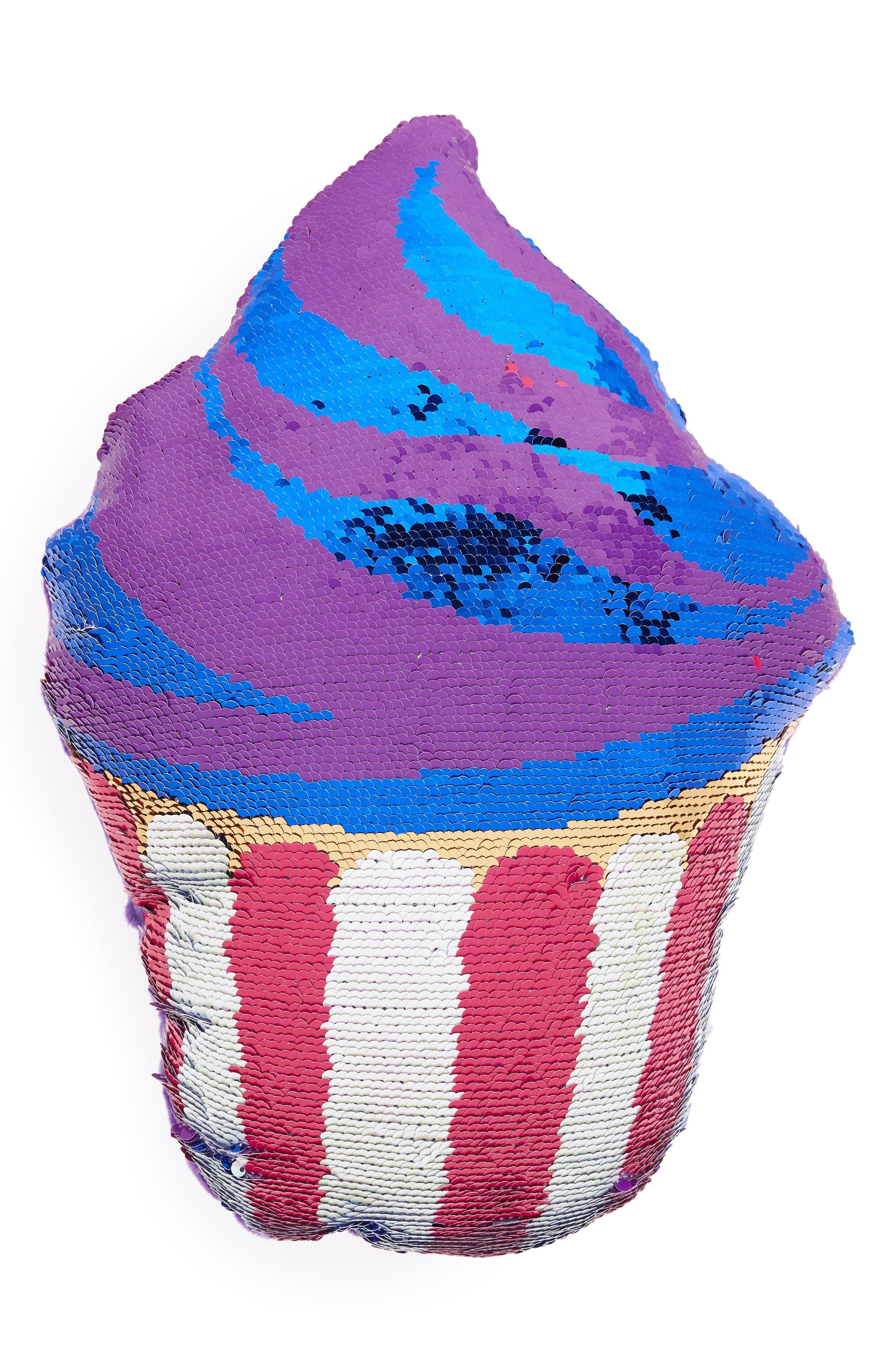 Flip Sequin Cupcake Pillow,                             Alternate thumbnail 4, color,                             960