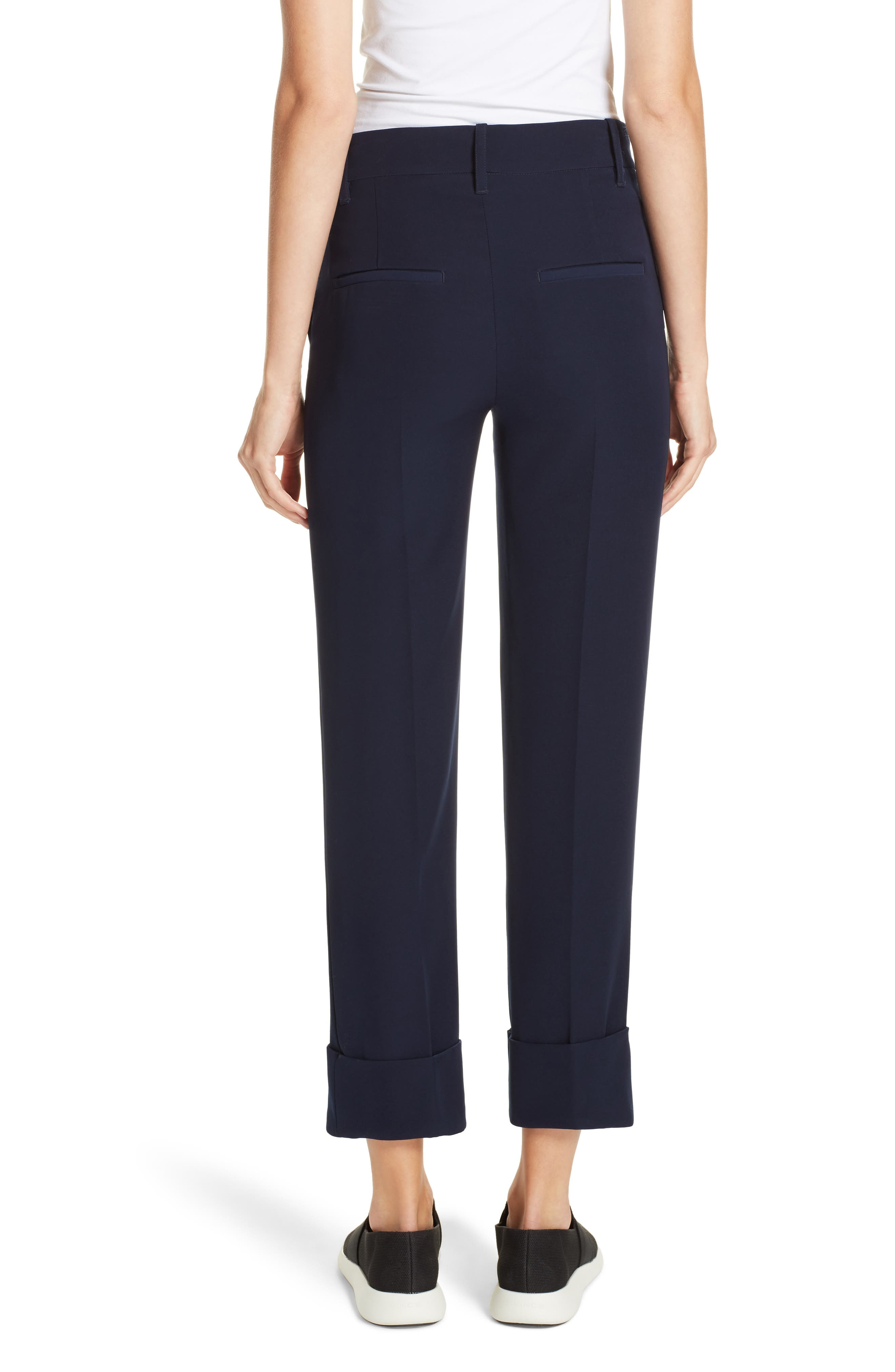 Cuffed Ankle Trousers,                             Alternate thumbnail 2, color,                             NAVY
