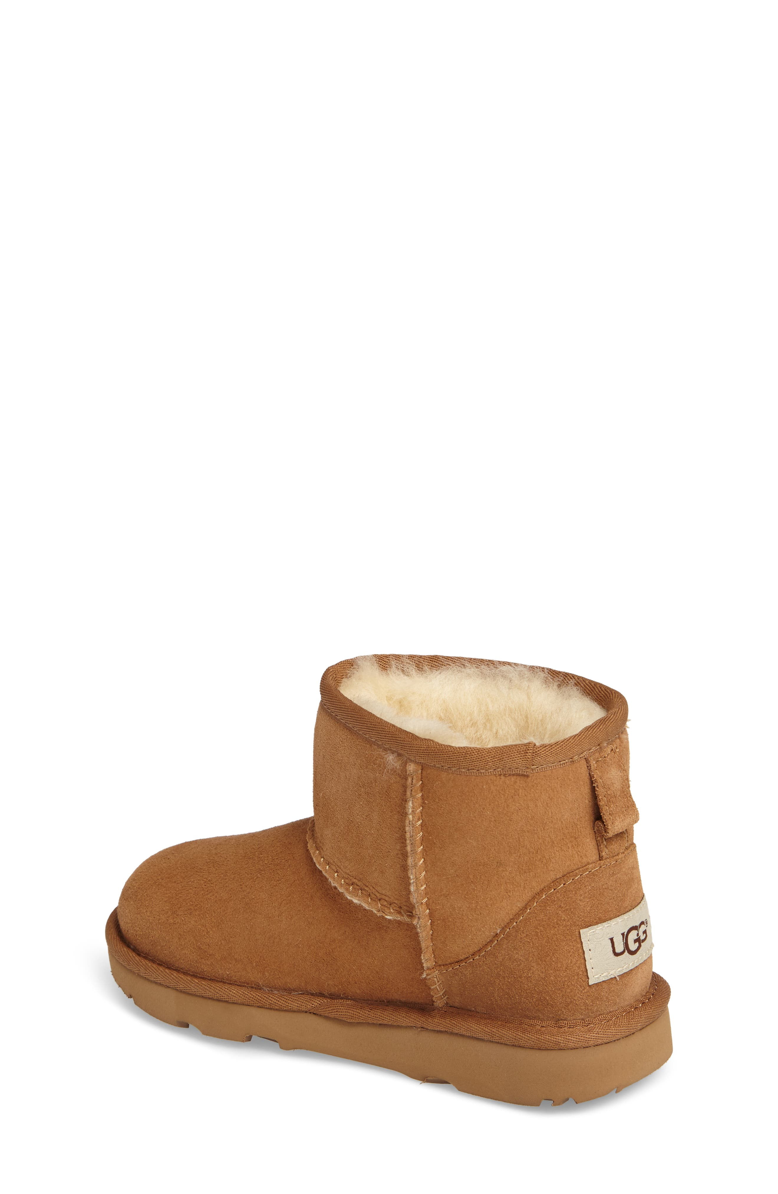 Classic Mini II Water-Resistant Genuine Shearling Boot,                             Alternate thumbnail 2, color,                             CHESTNUT