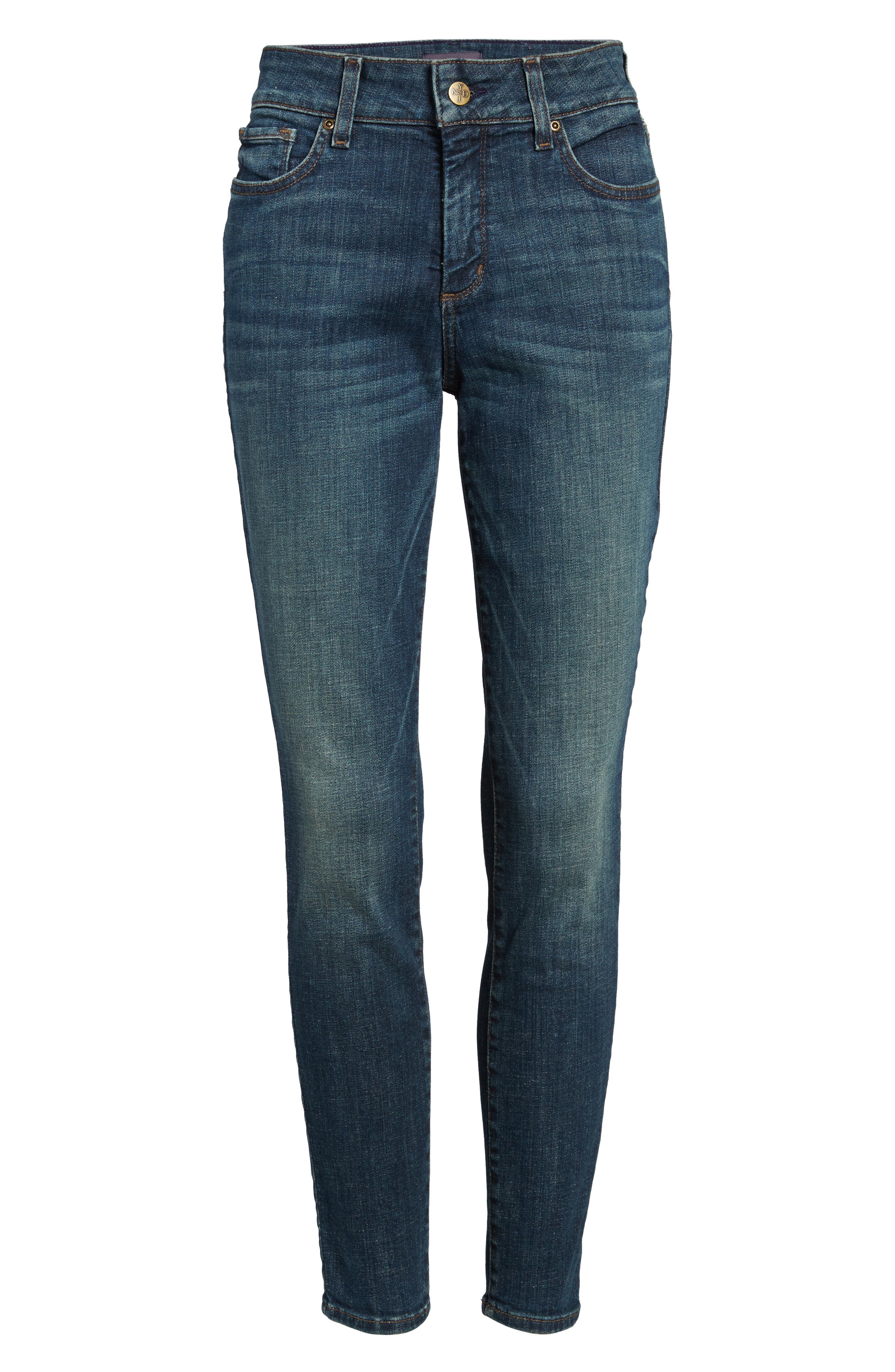 Ami Stretch Skinny Jeans,                             Alternate thumbnail 6, color,                             420