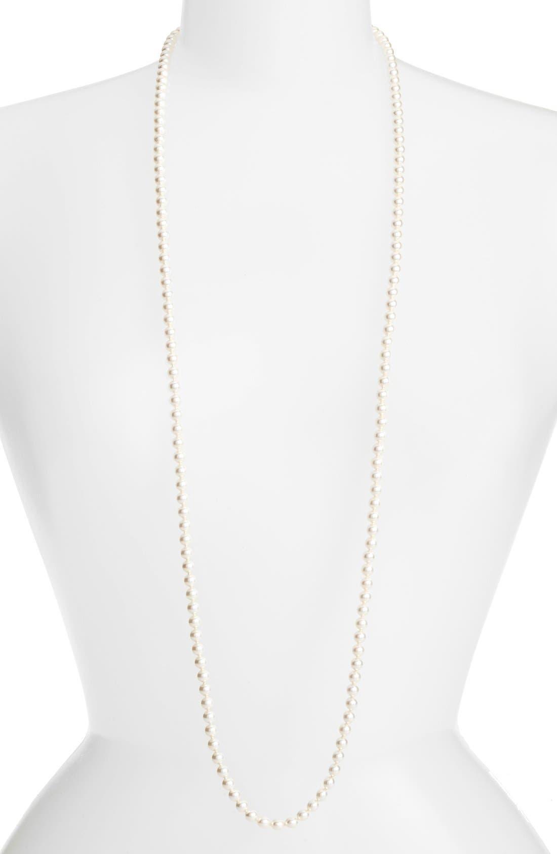 Imitation Pearl Strand Necklace,                             Main thumbnail 1, color,                             IVORY