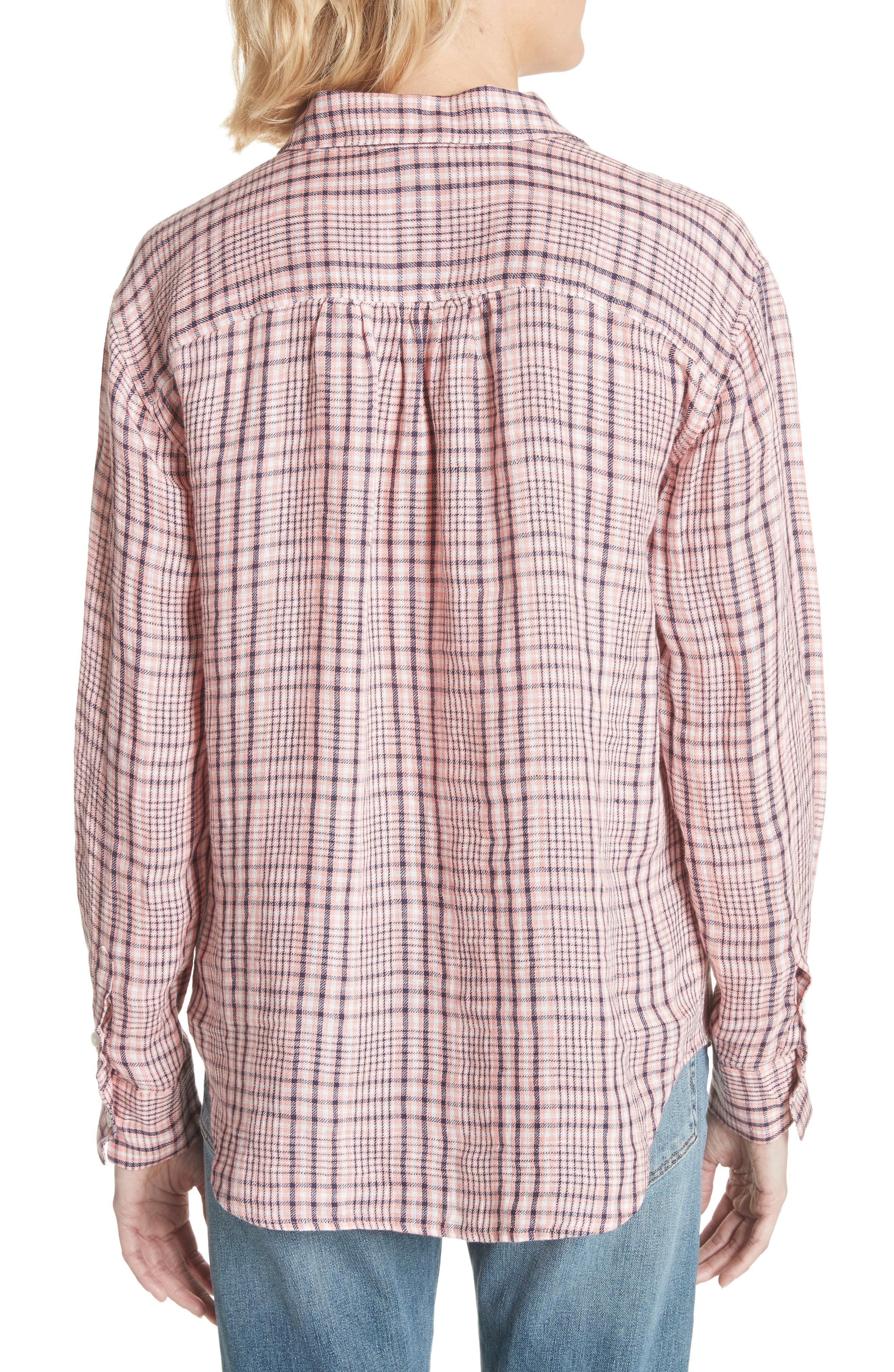 Lidelle Plaid Linen Shirt,                             Alternate thumbnail 2, color,                             658