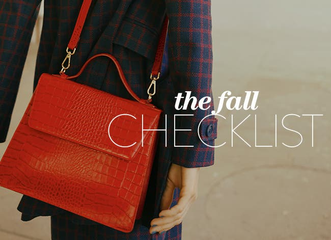 The fall checklist.