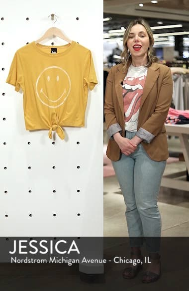 Smiley Tie Hem Boxy Tee, sales video thumbnail