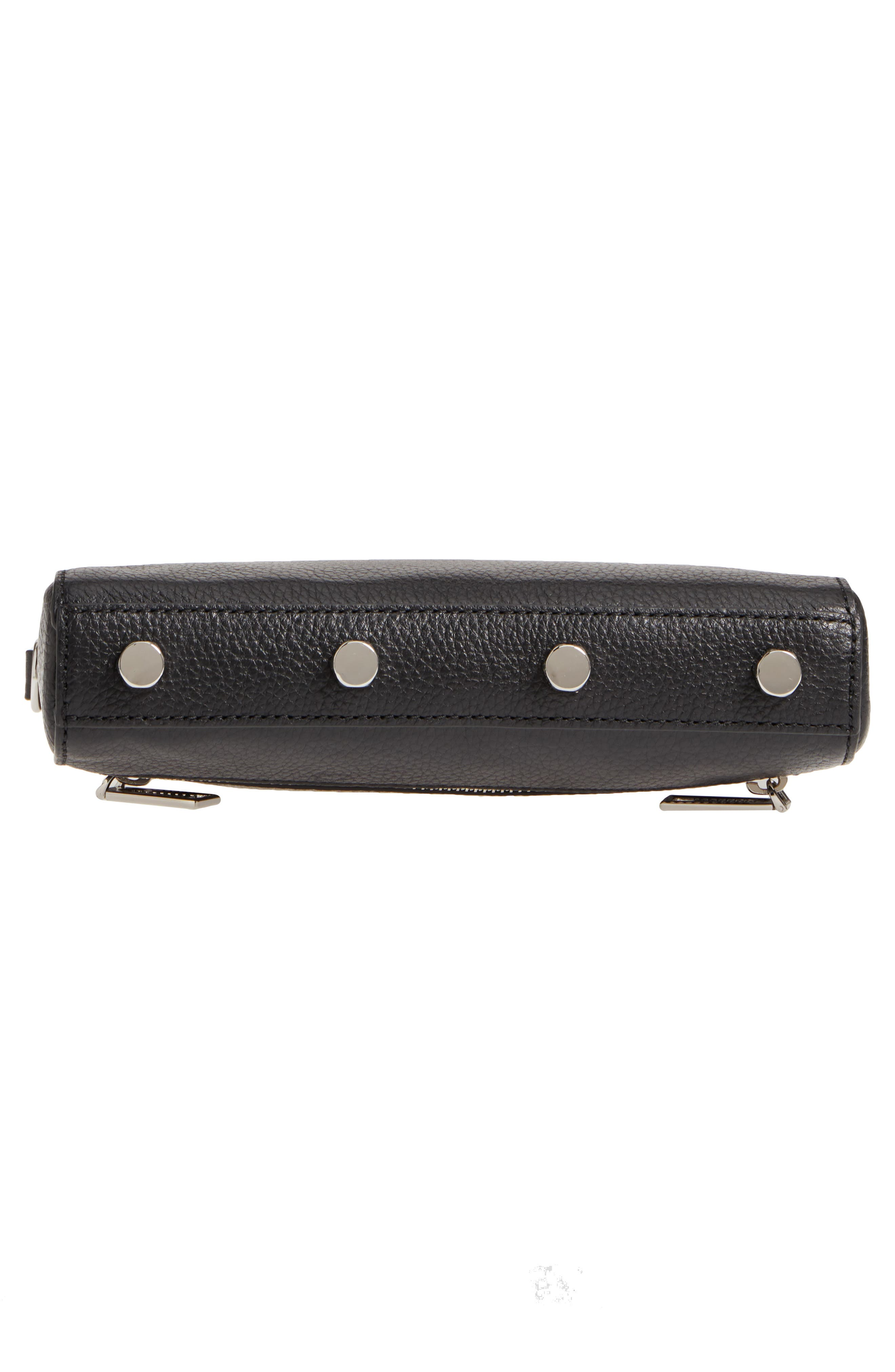 Mini 5 Leather Crossbody,                             Alternate thumbnail 6, color,                             001