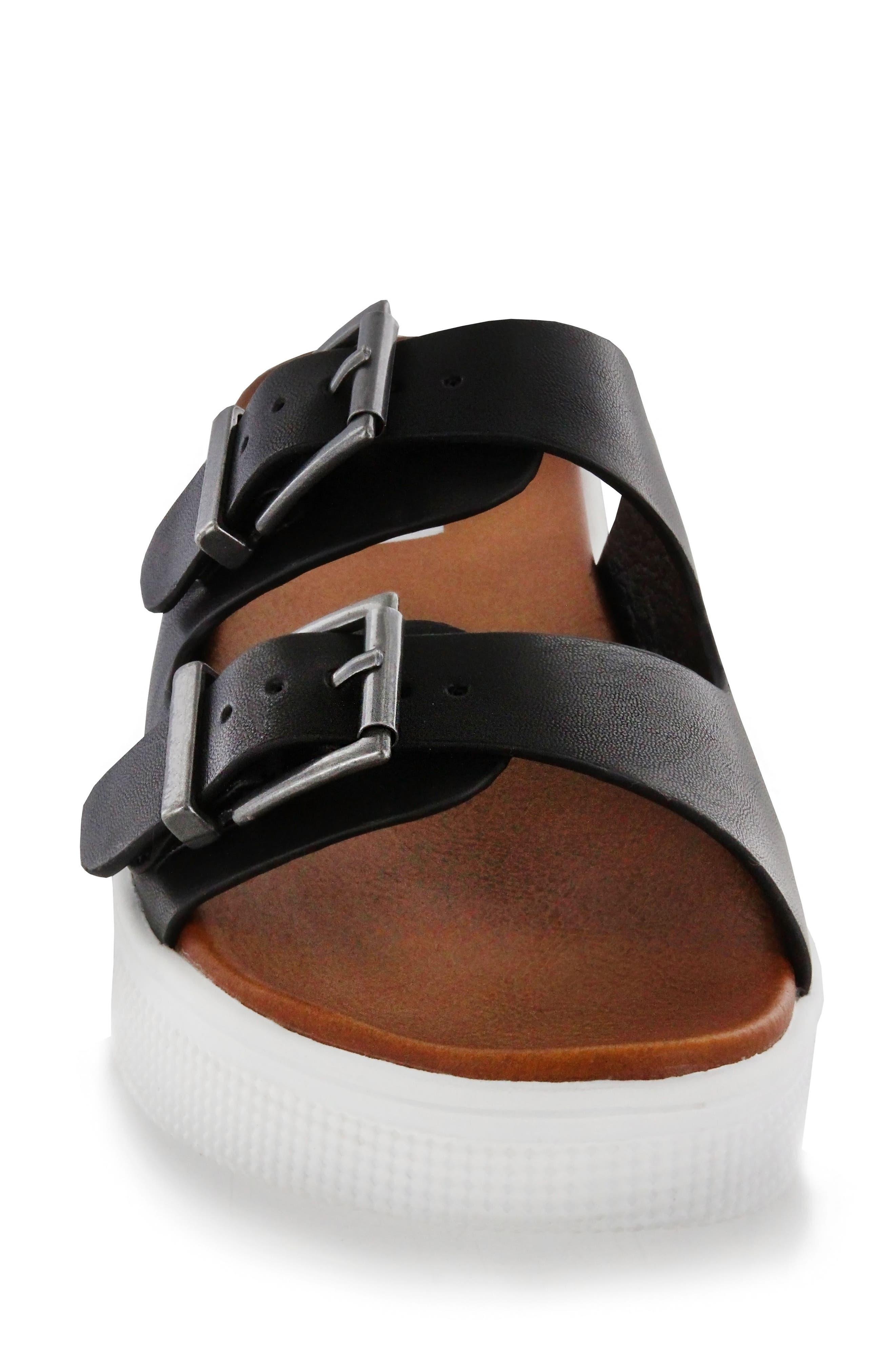 Venessa Platform Slide Sandal,                             Alternate thumbnail 4, color,                             001