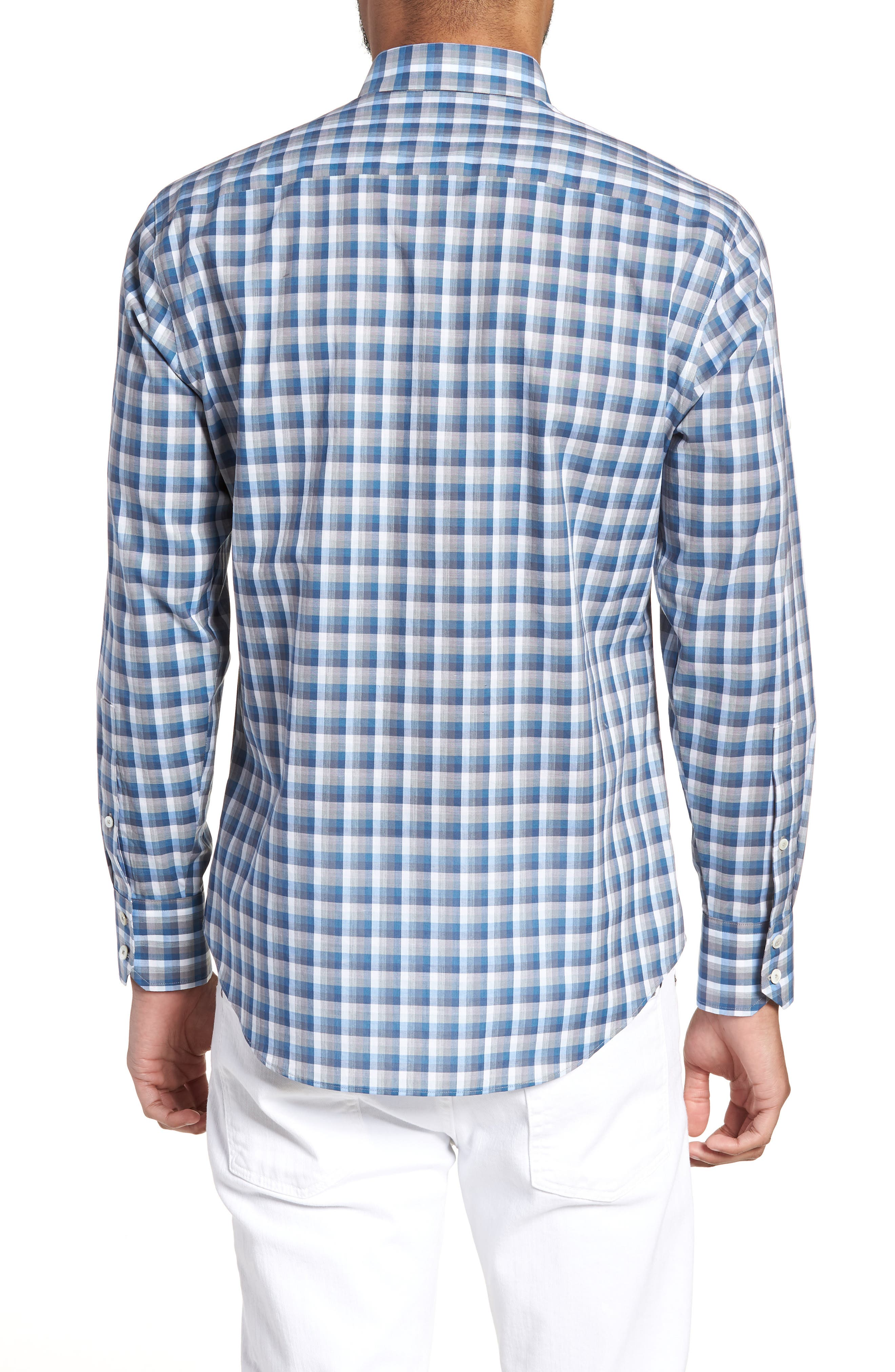 ZACHARY PRELL,                             Cheung Regular Fit Sport Shirt,                             Alternate thumbnail 2, color,                             BLUE