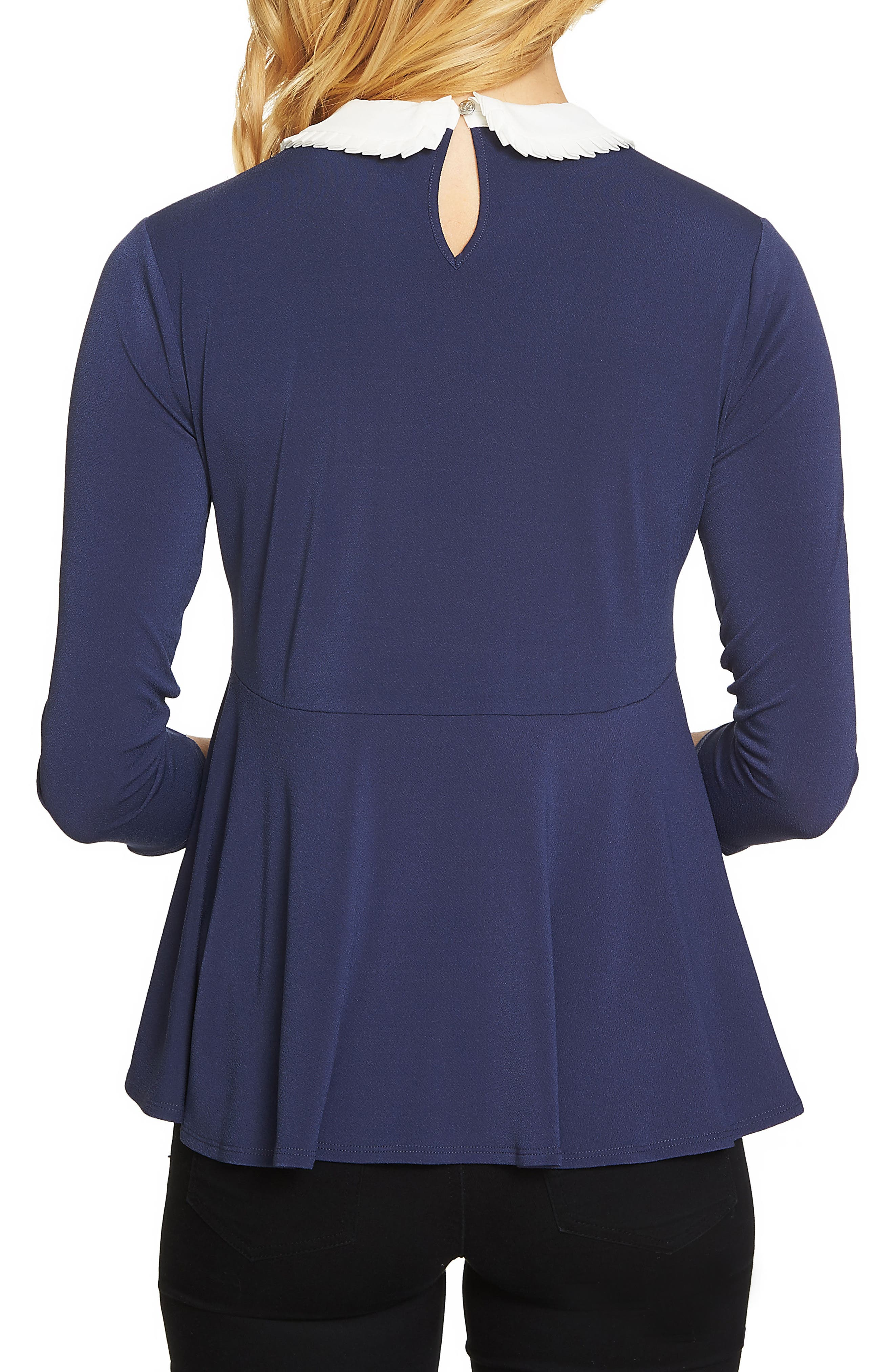 Pleat Collar Swing Knit Top,                             Alternate thumbnail 5, color,