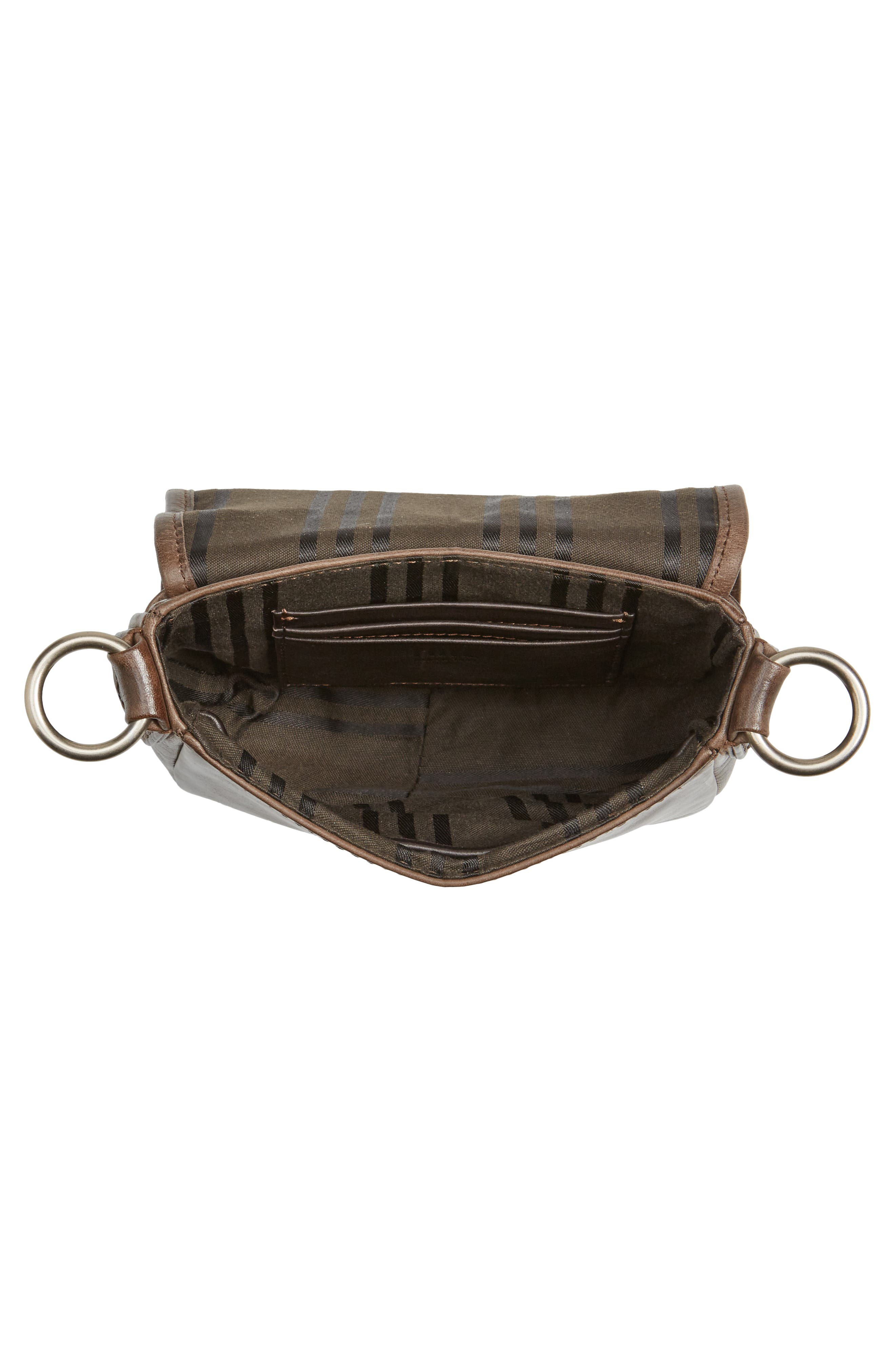Mini Melissa Whipstitch Leather Saddle Bag,                             Alternate thumbnail 4, color,                             203