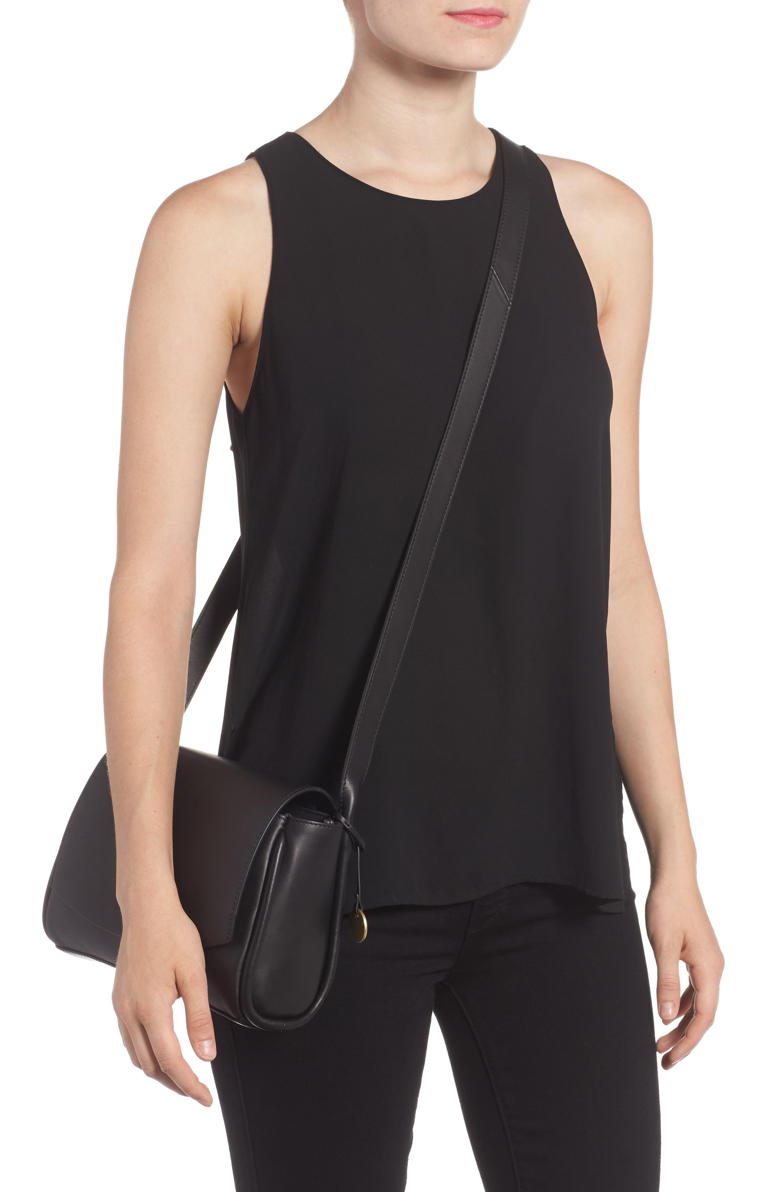Sylvi Leather Crossbody Bag,                             Alternate thumbnail 2, color,                             001