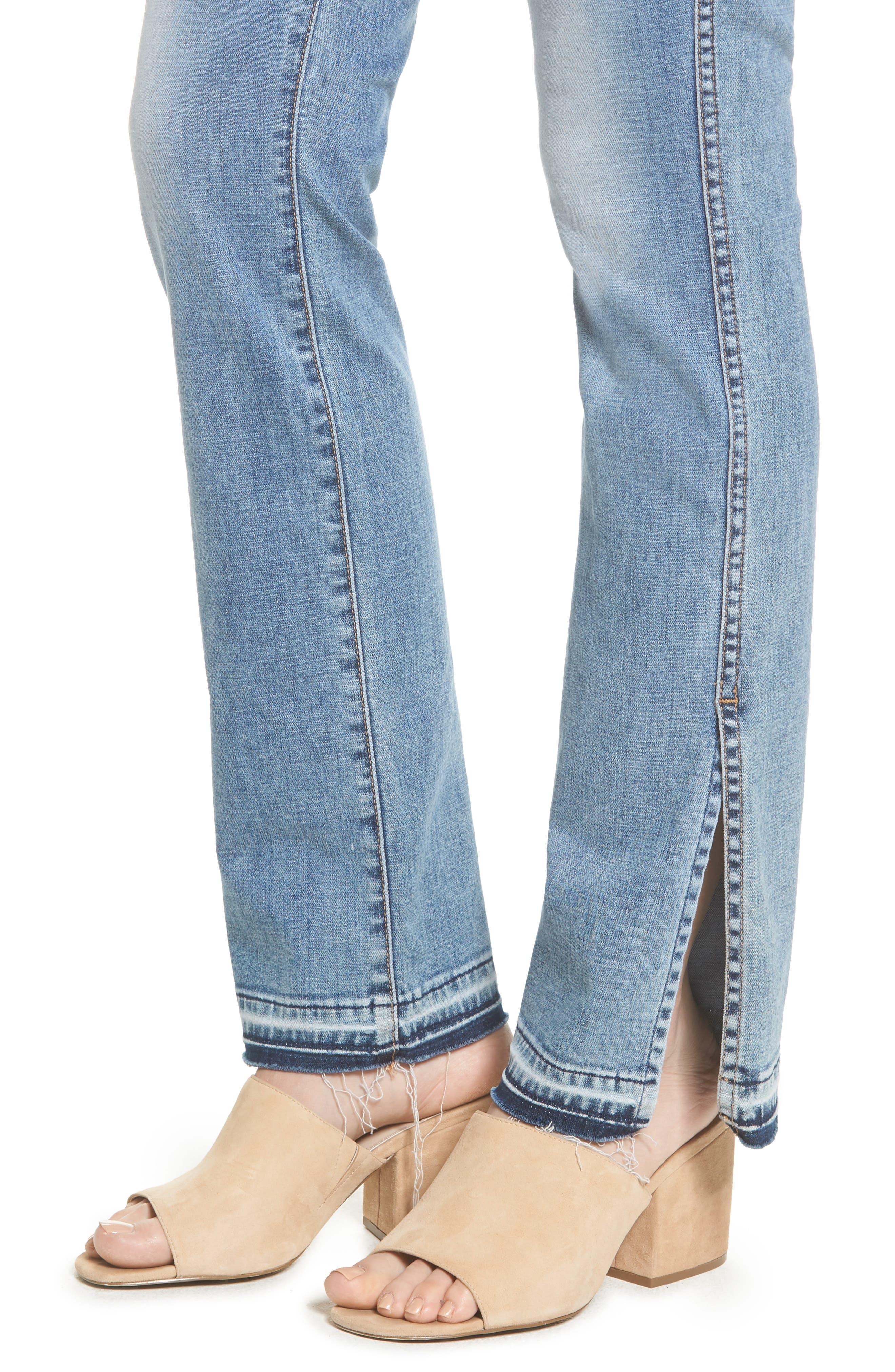 Dylan Split Hem Straight Leg Jeans,                             Alternate thumbnail 4, color,                             400