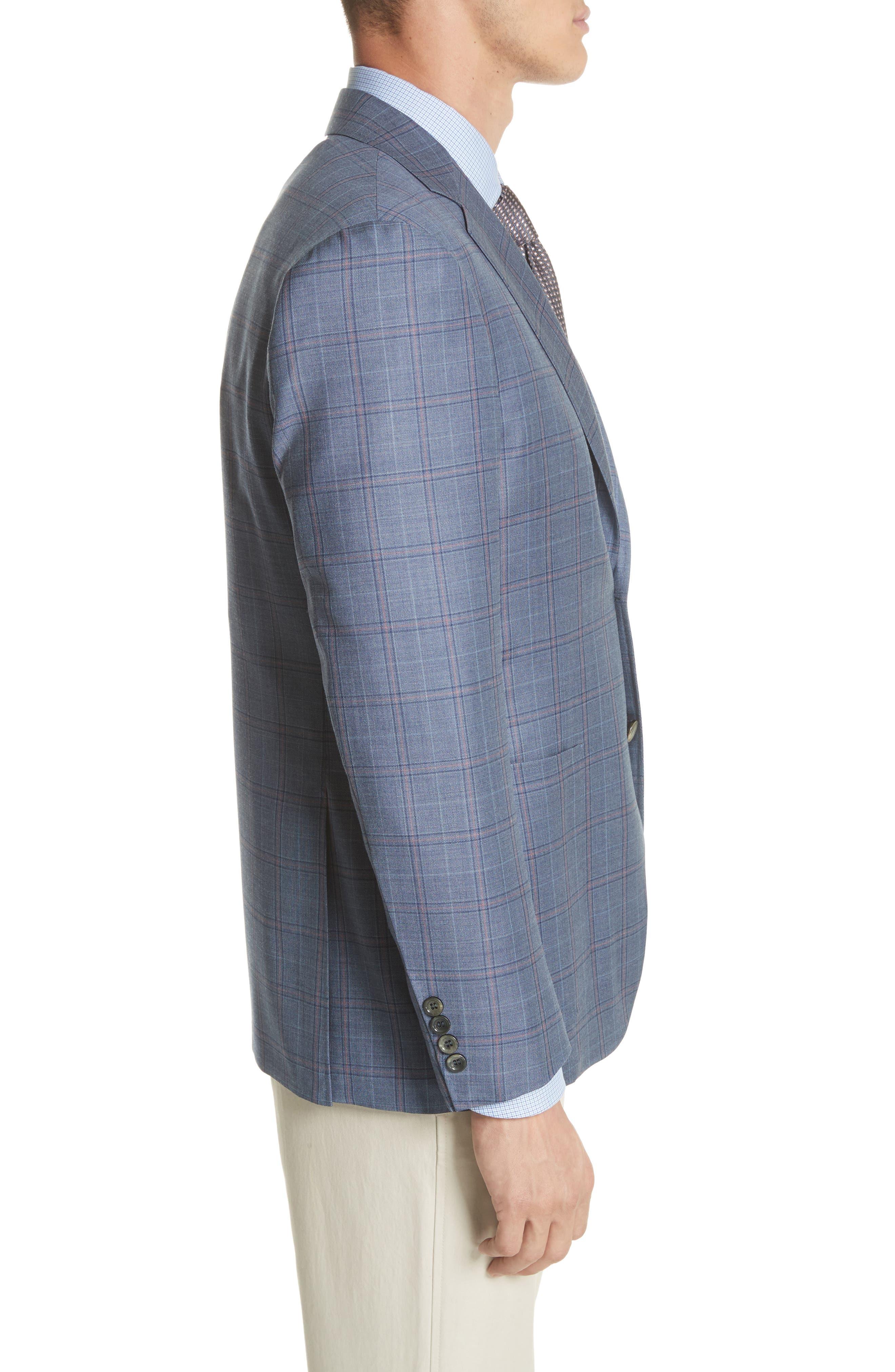 Classic Fit Plaid Wool Sport Coat,                             Alternate thumbnail 3, color,                             400