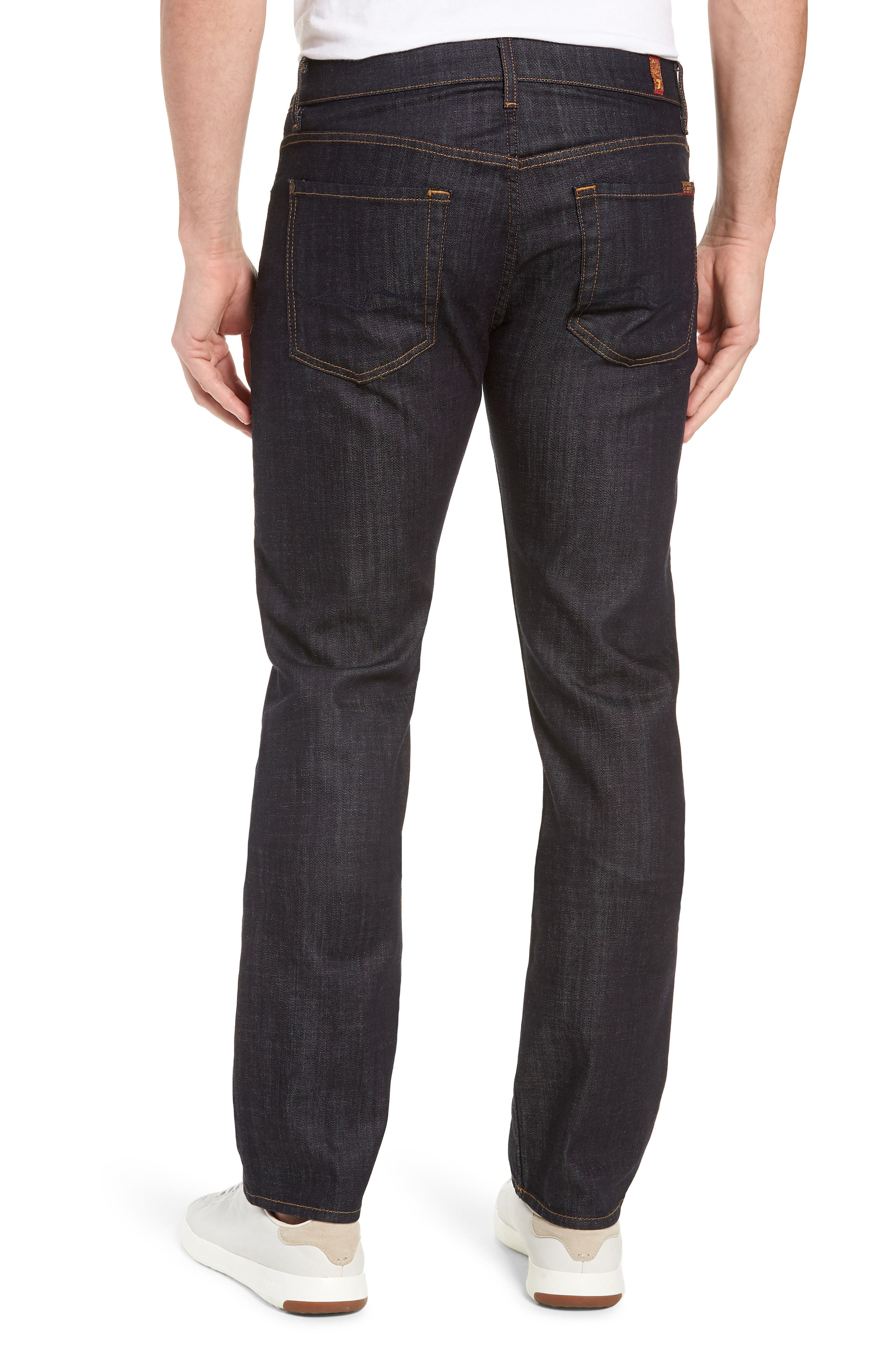 'Standard' Straight Leg Jeans,                             Alternate thumbnail 3, color,                             DARK AND CLEAN