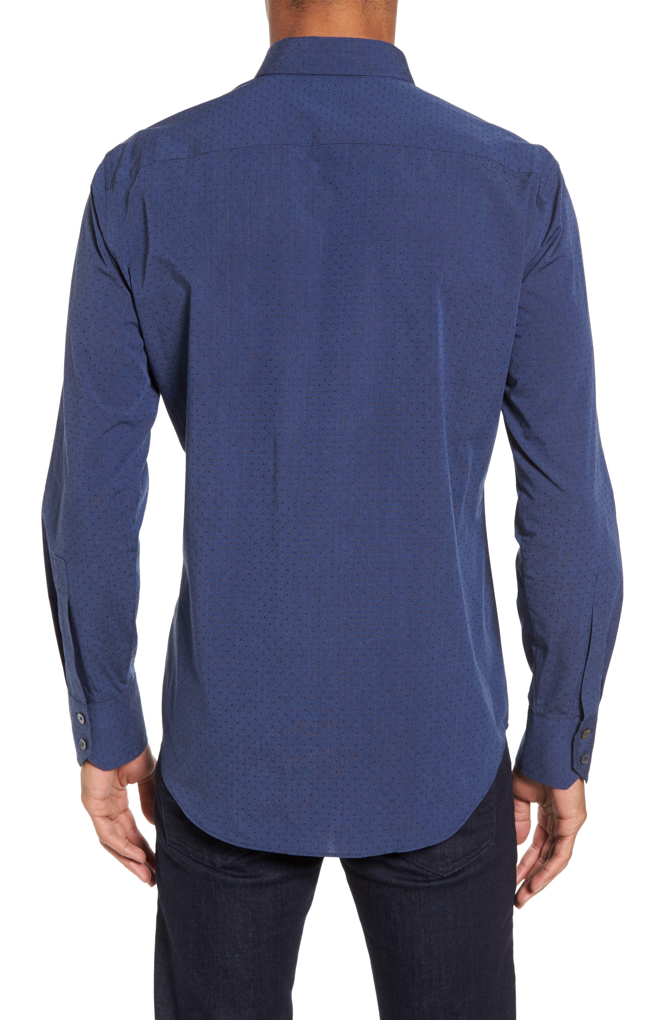 Colly Slim Fit Print Sport Shirt,                             Alternate thumbnail 2, color,
