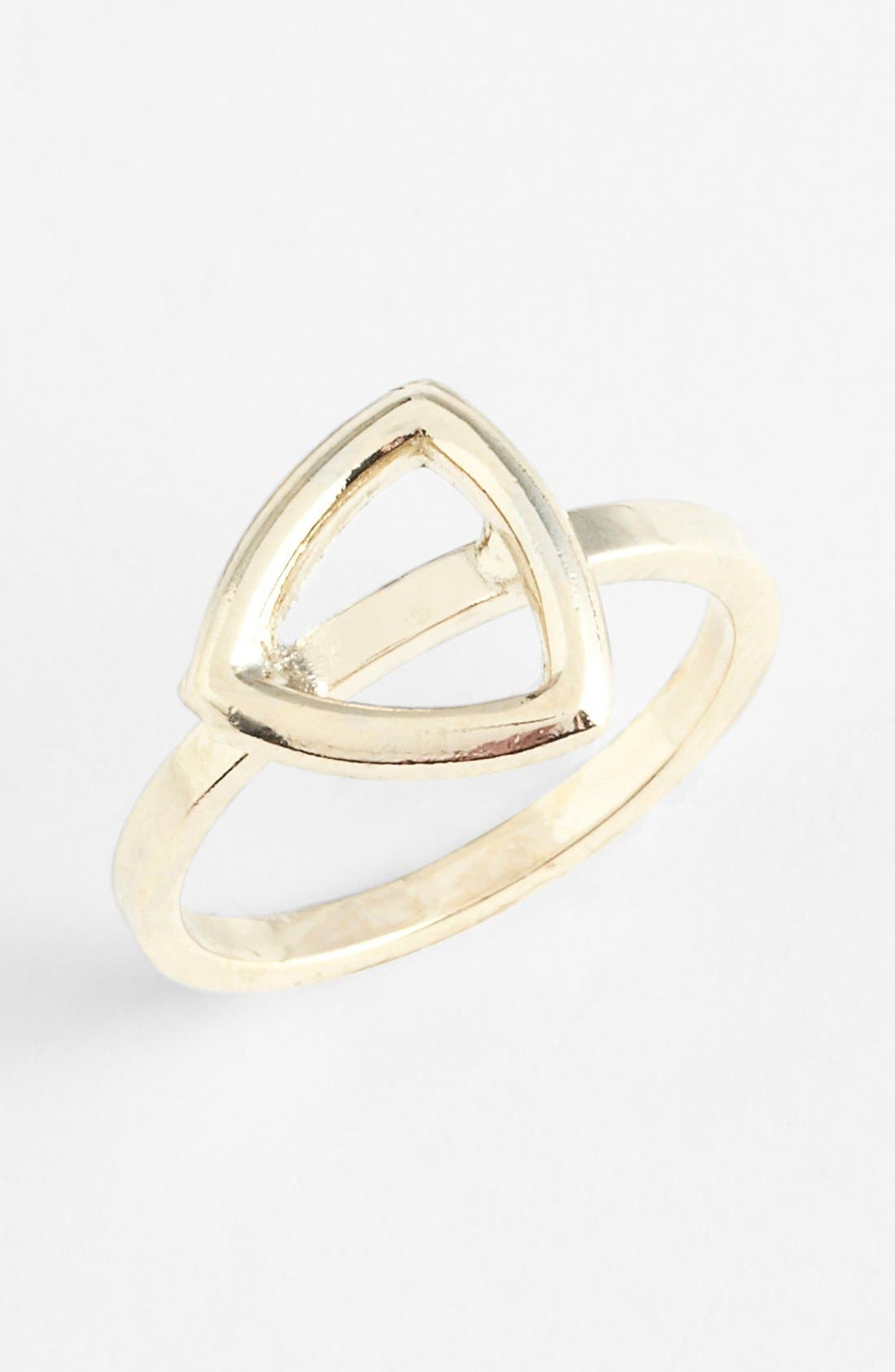 Triangle Midi Ring,                             Main thumbnail 1, color,                             710