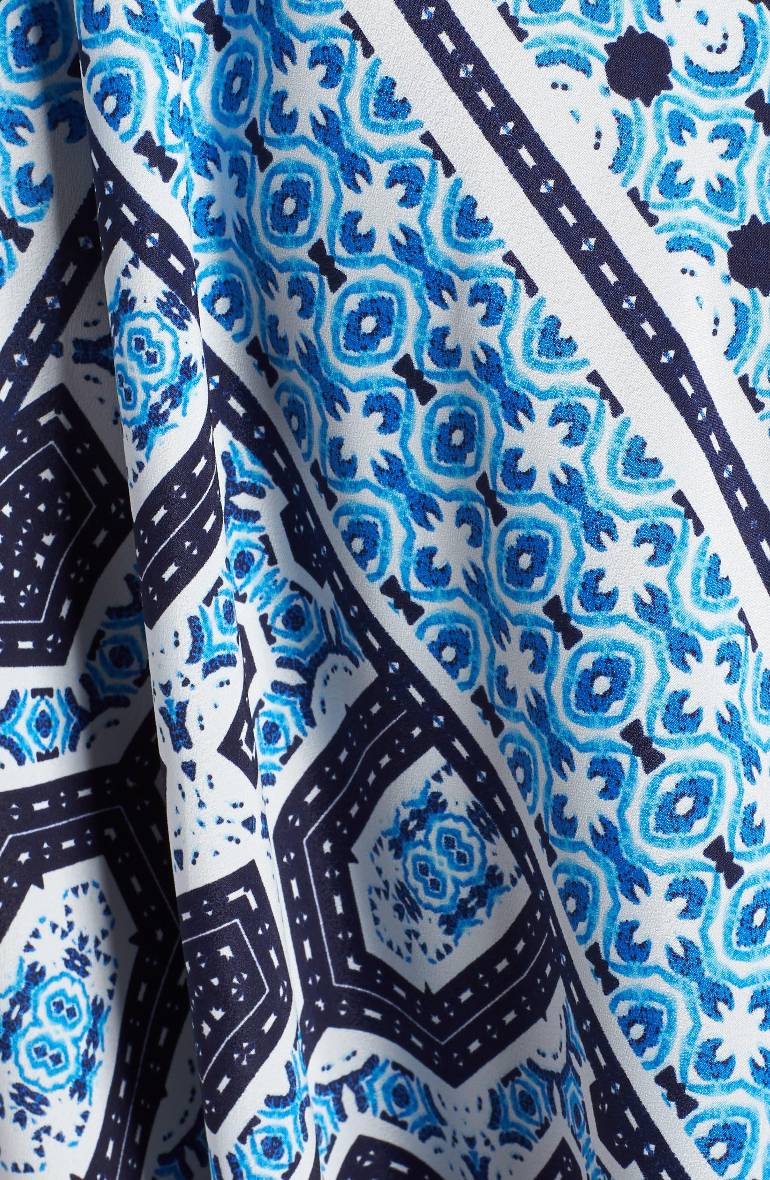 Scarf Print Halter Neck Maxi Dress,                             Alternate thumbnail 6, color,                             421
