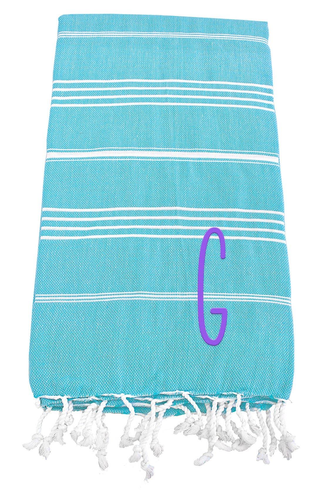 Monogram Turkish Cotton Towel,                             Main thumbnail 90, color,
