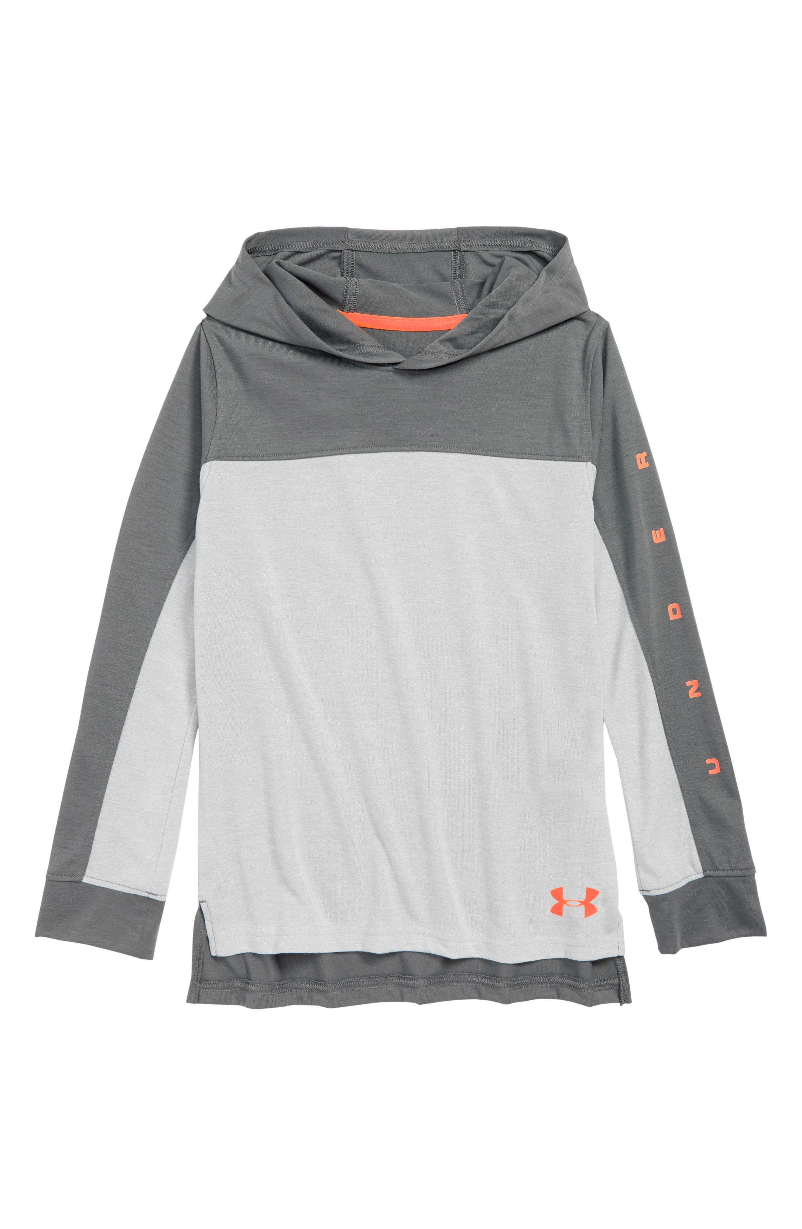 Boys Under Armour Relay Hoodie Size XL (16)  Grey